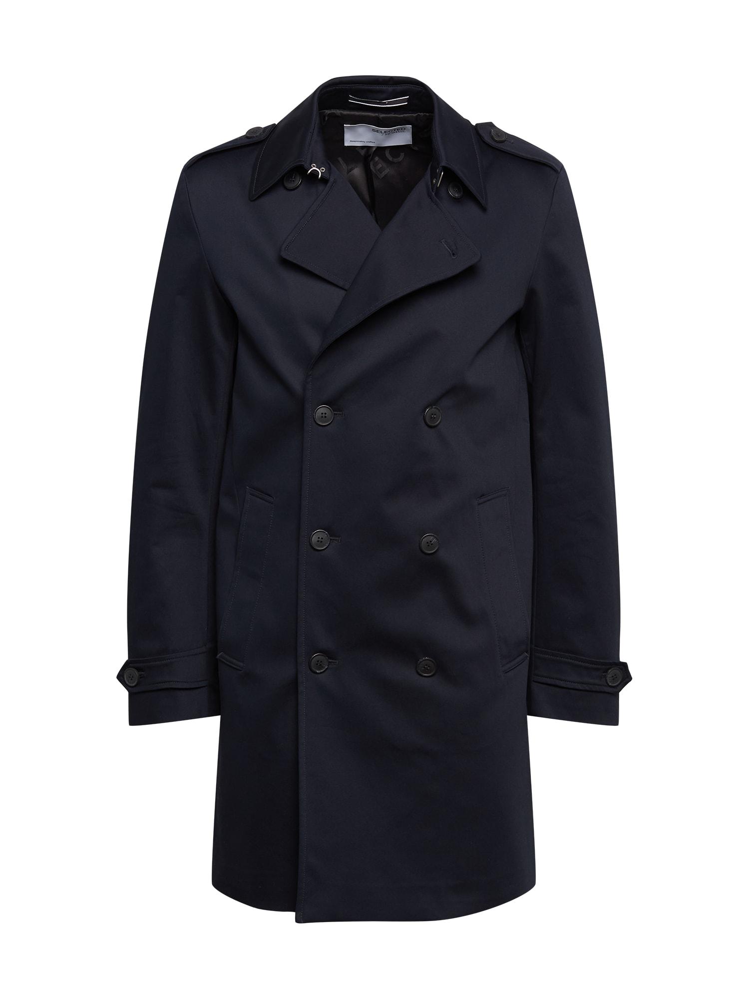 SELECTED HOMME Demisezoninis paltas 'Sander' nakties mėlyna