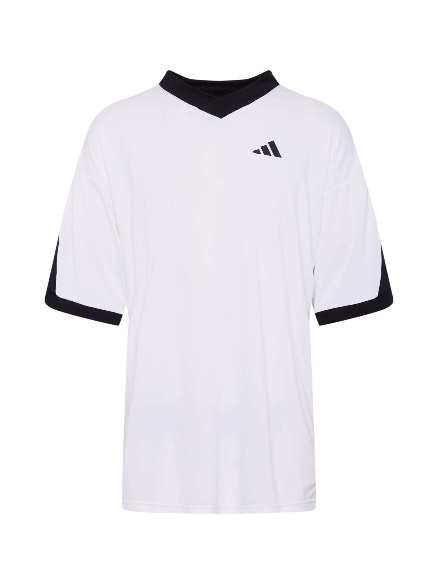 ADIDAS PERFORMANCE Funkční tričko 'Urban Foot'  černá / bílá