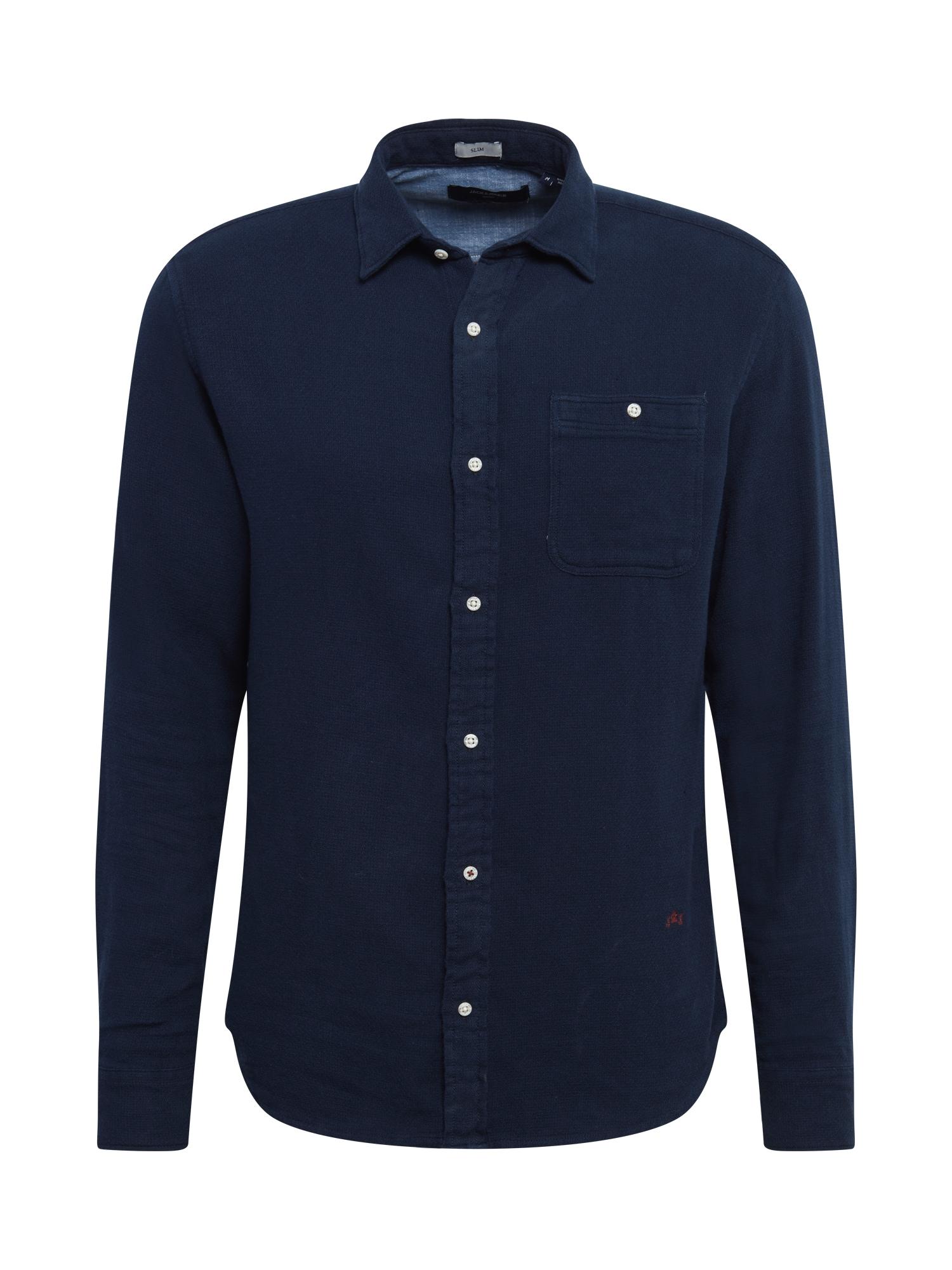 JACK & JONES Košile 'BLUNICK'  tmavě modrá