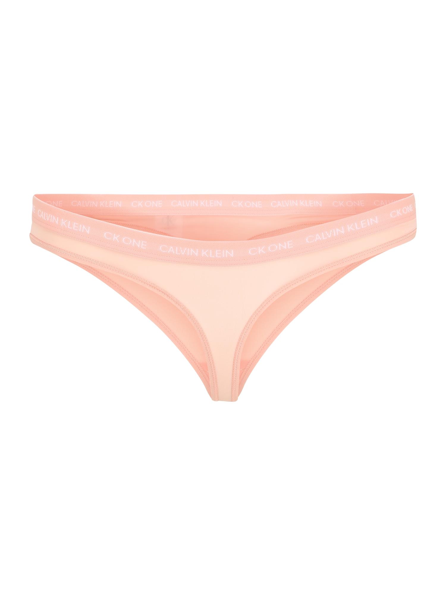 Calvin Klein Underwear Siaurikės ryškiai rožinė spalva / rožių spalva / balta