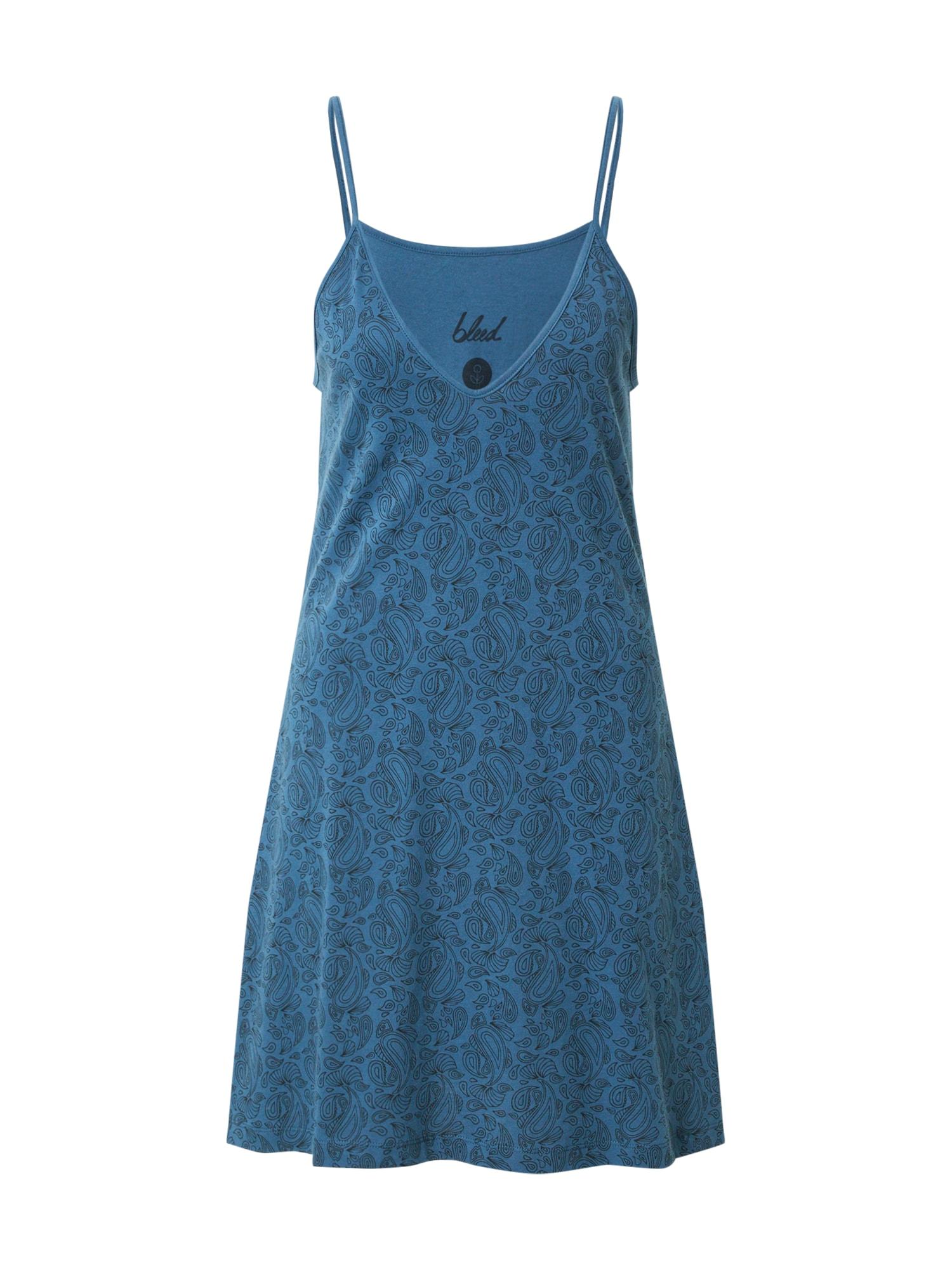 bleed clothing Suknelė pastelinė mėlyna / juoda