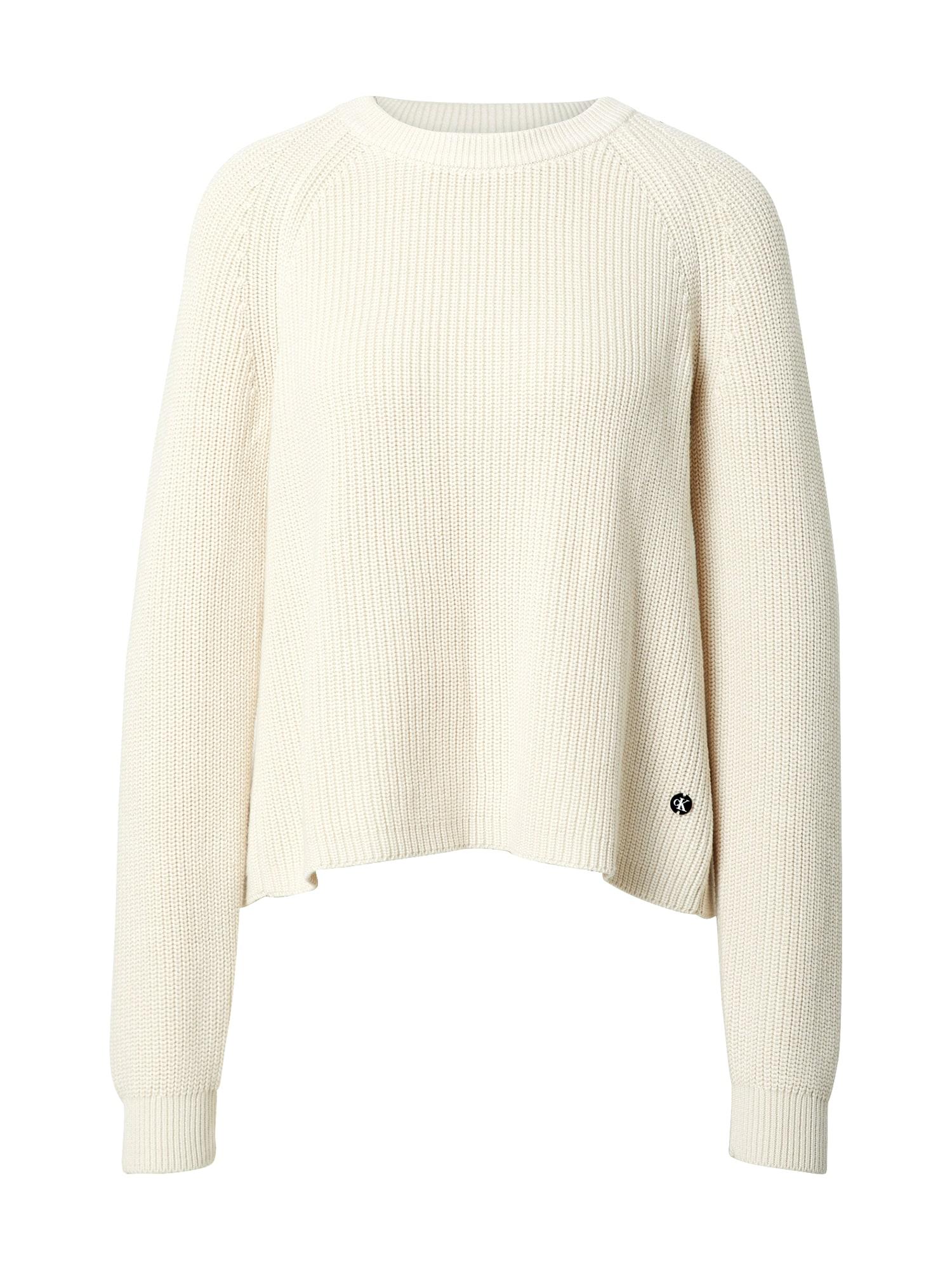 Calvin Klein Jeans Svetr  krémová