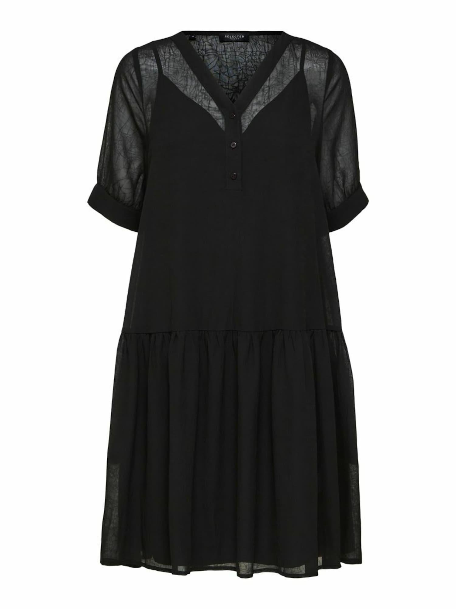 Selected Femme Petite Suknelė juoda