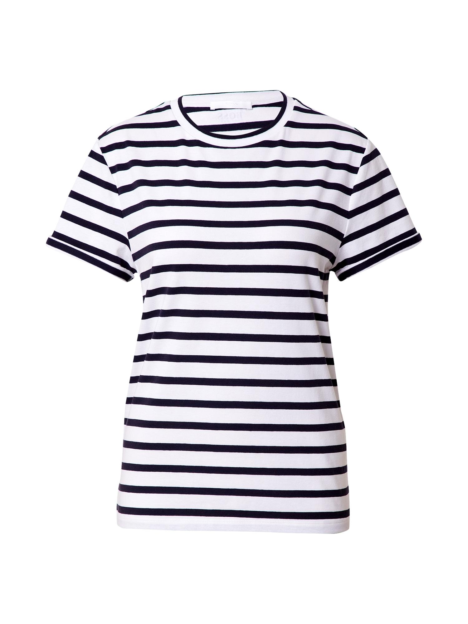 BOSS Tričko 'Espring'  bílá / noční modrá
