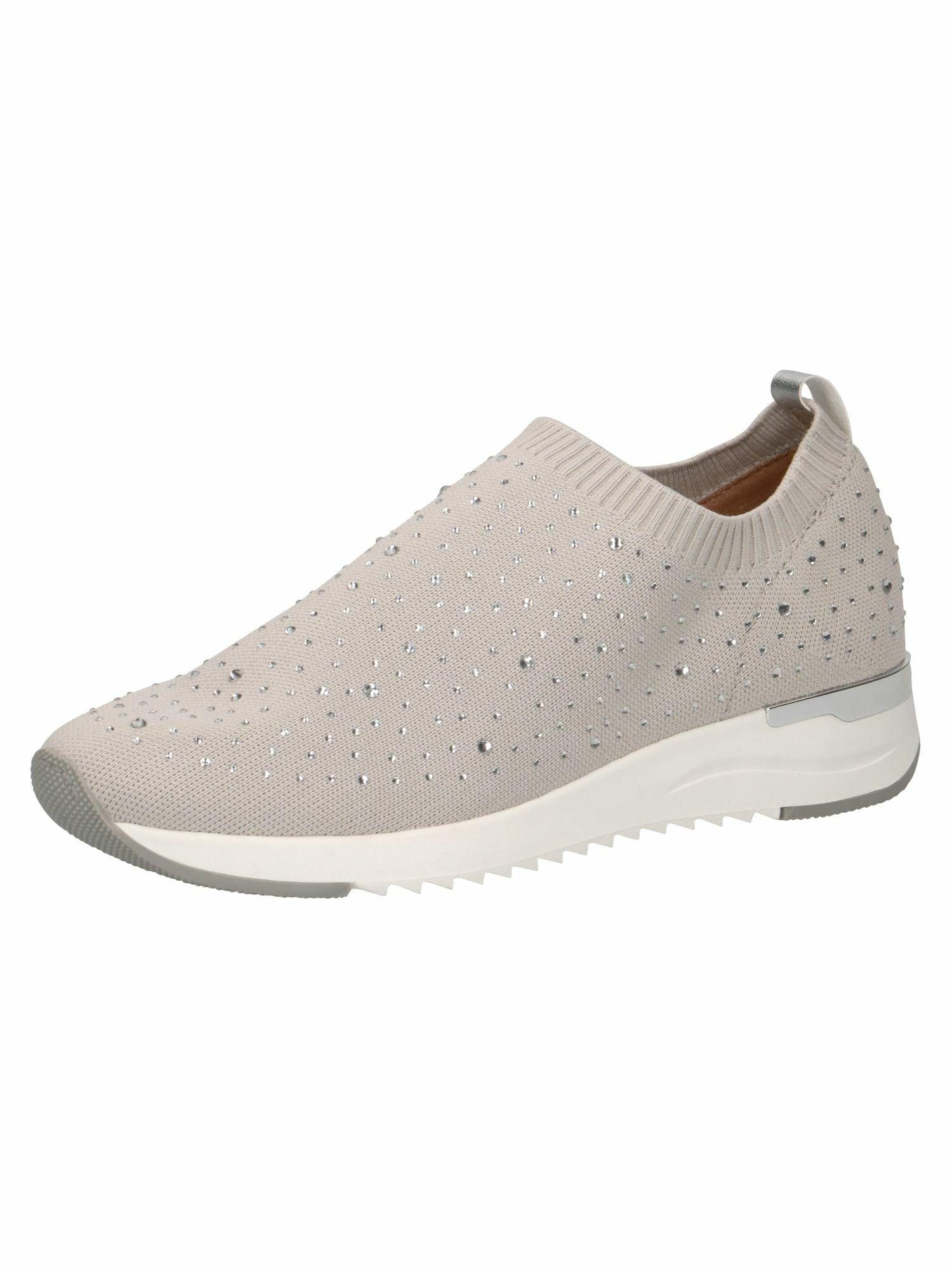 CAPRICE Slip on boty  béžová / bílá