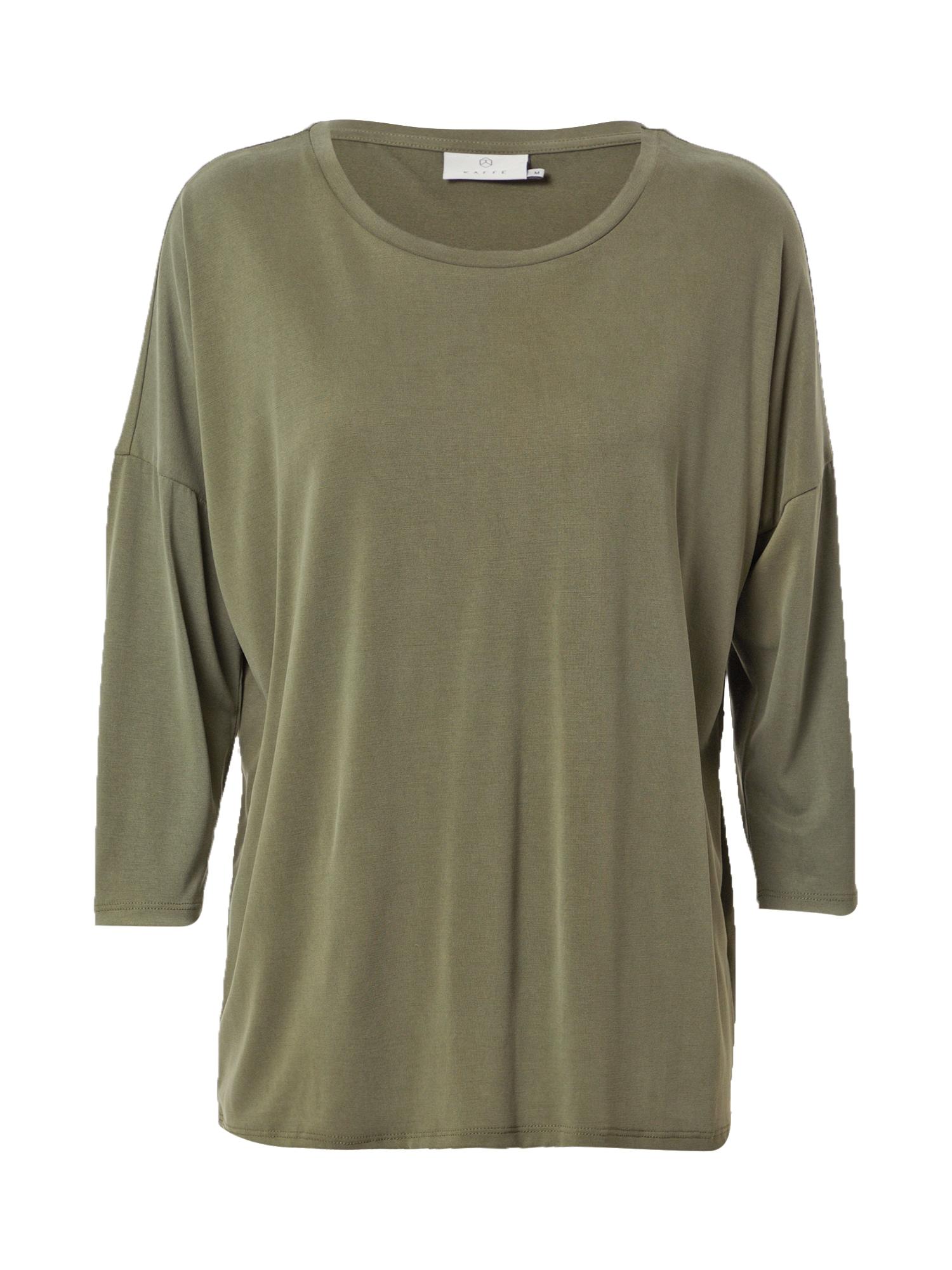 Kaffe Laisvi marškinėliai alyvuogių spalva