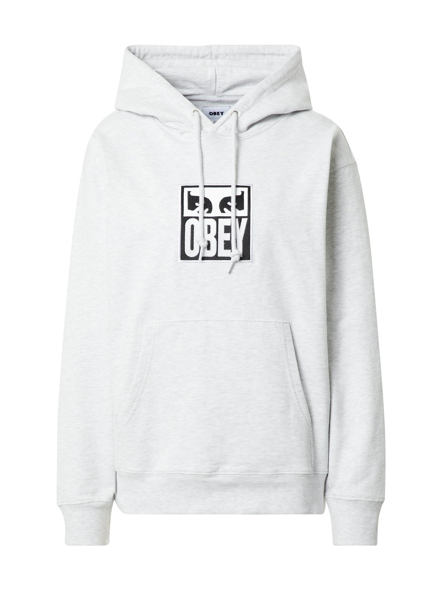 Obey Megztinis be užsegimo margai balta / juoda