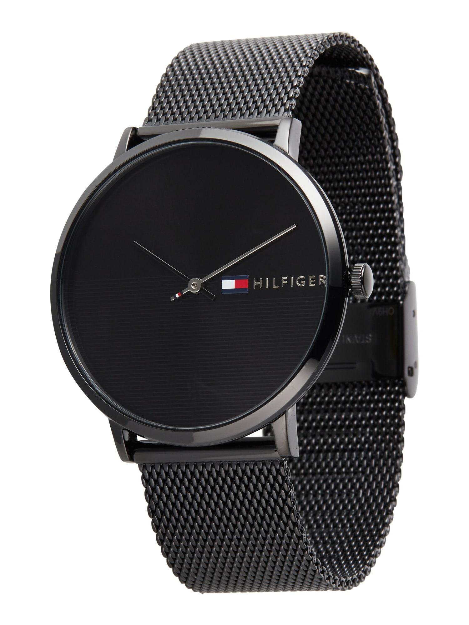 TOMMY HILFIGER Analoginis (įprasto dizaino) laikrodis juoda
