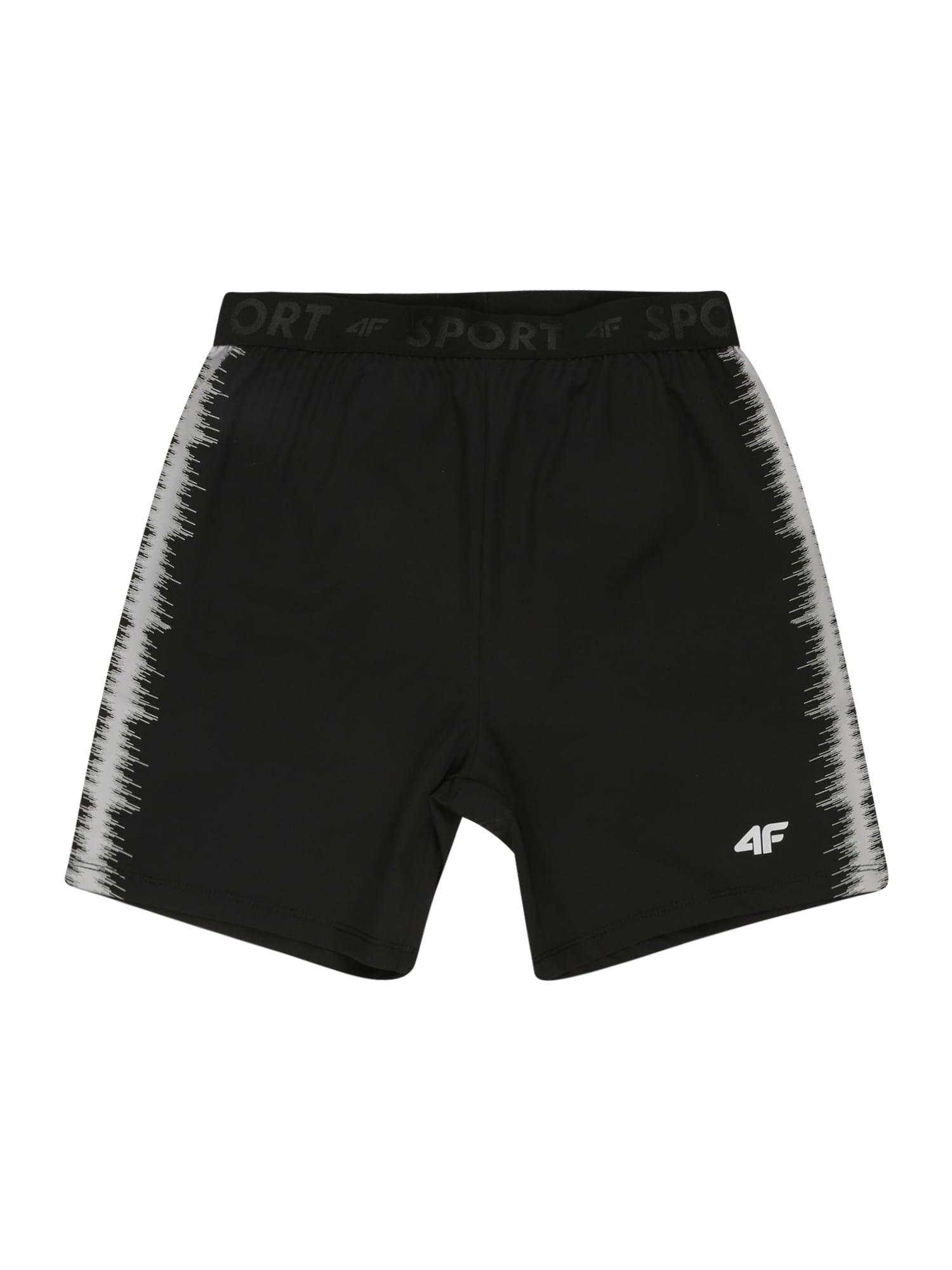 4F Sportinės kelnės juoda / balta