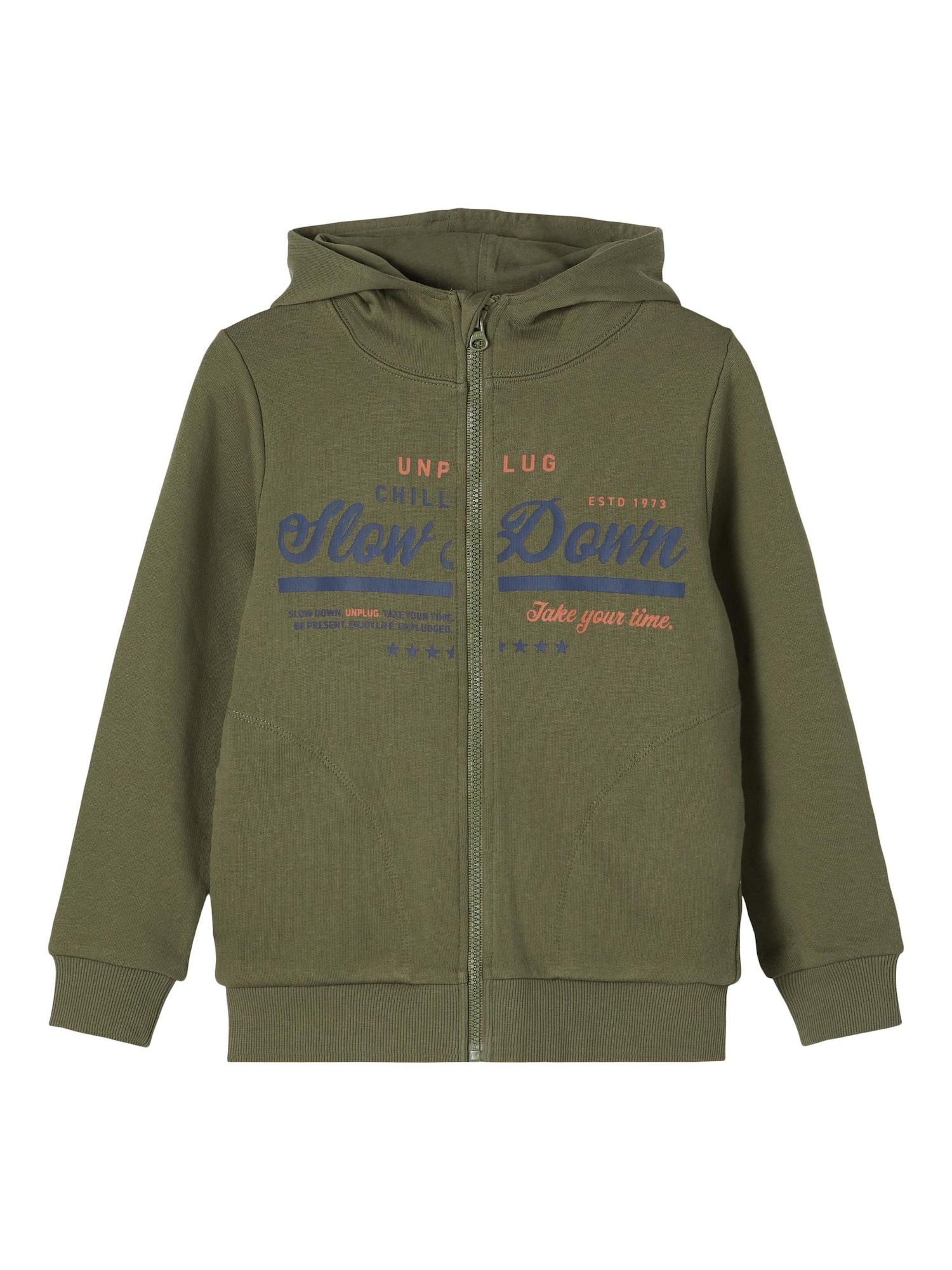 NAME IT Džemperis rusvai žalia / tamsiai mėlyna / pastelinė oranžinė