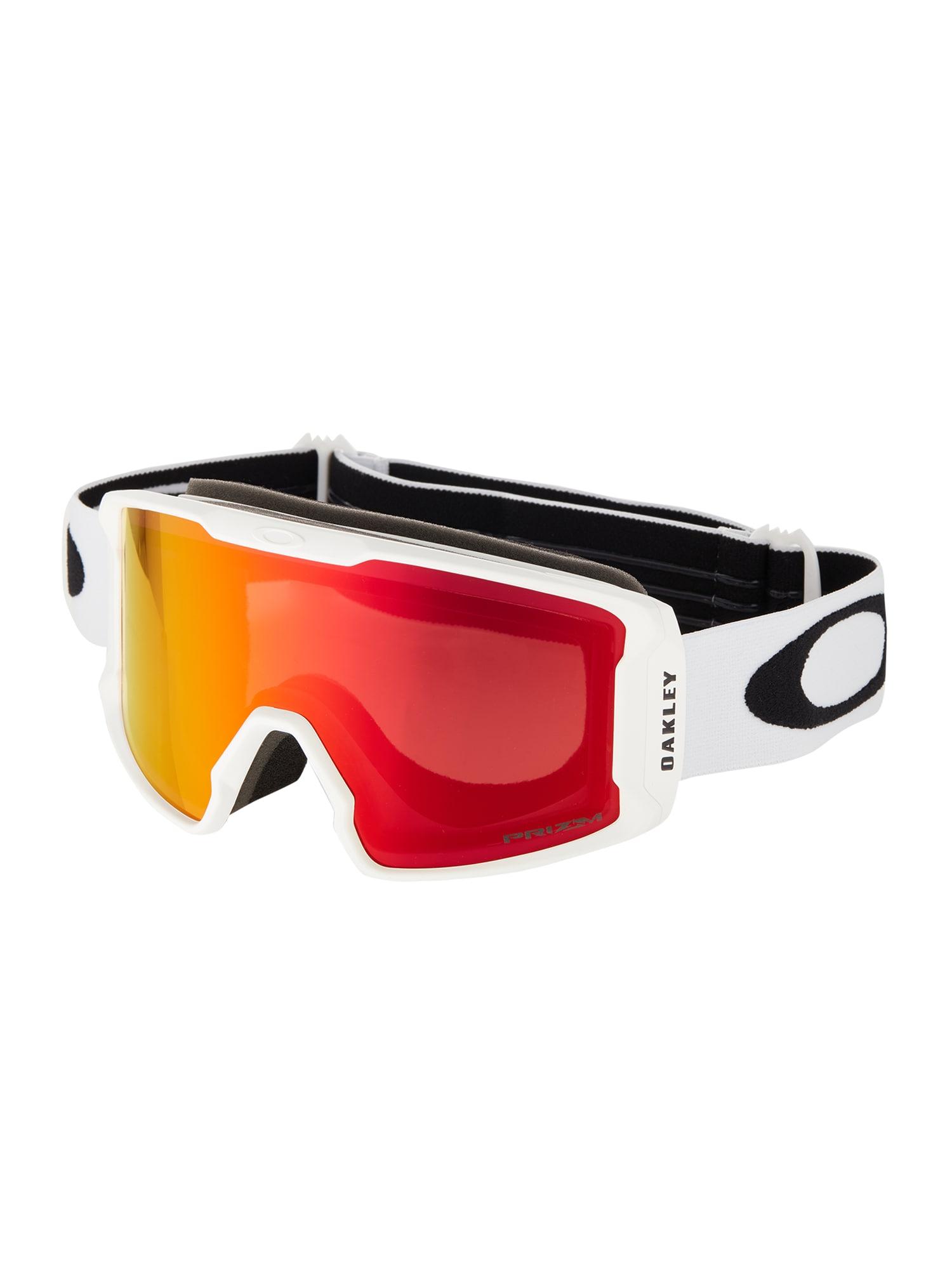 OAKLEY Sportiniai akiniai 'Line Miner' raudona / balta
