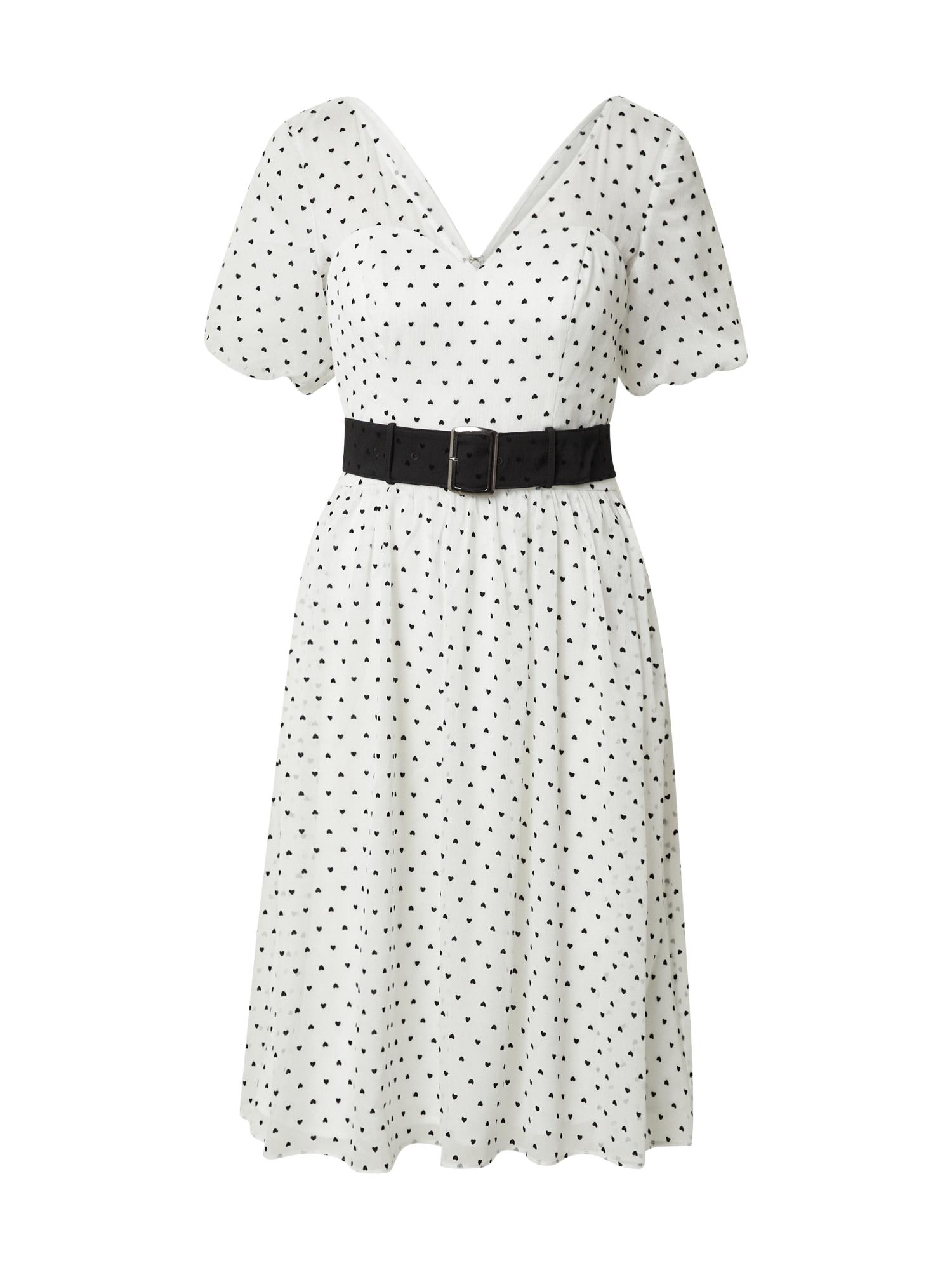 Chi Chi London Suknelė balta / juoda