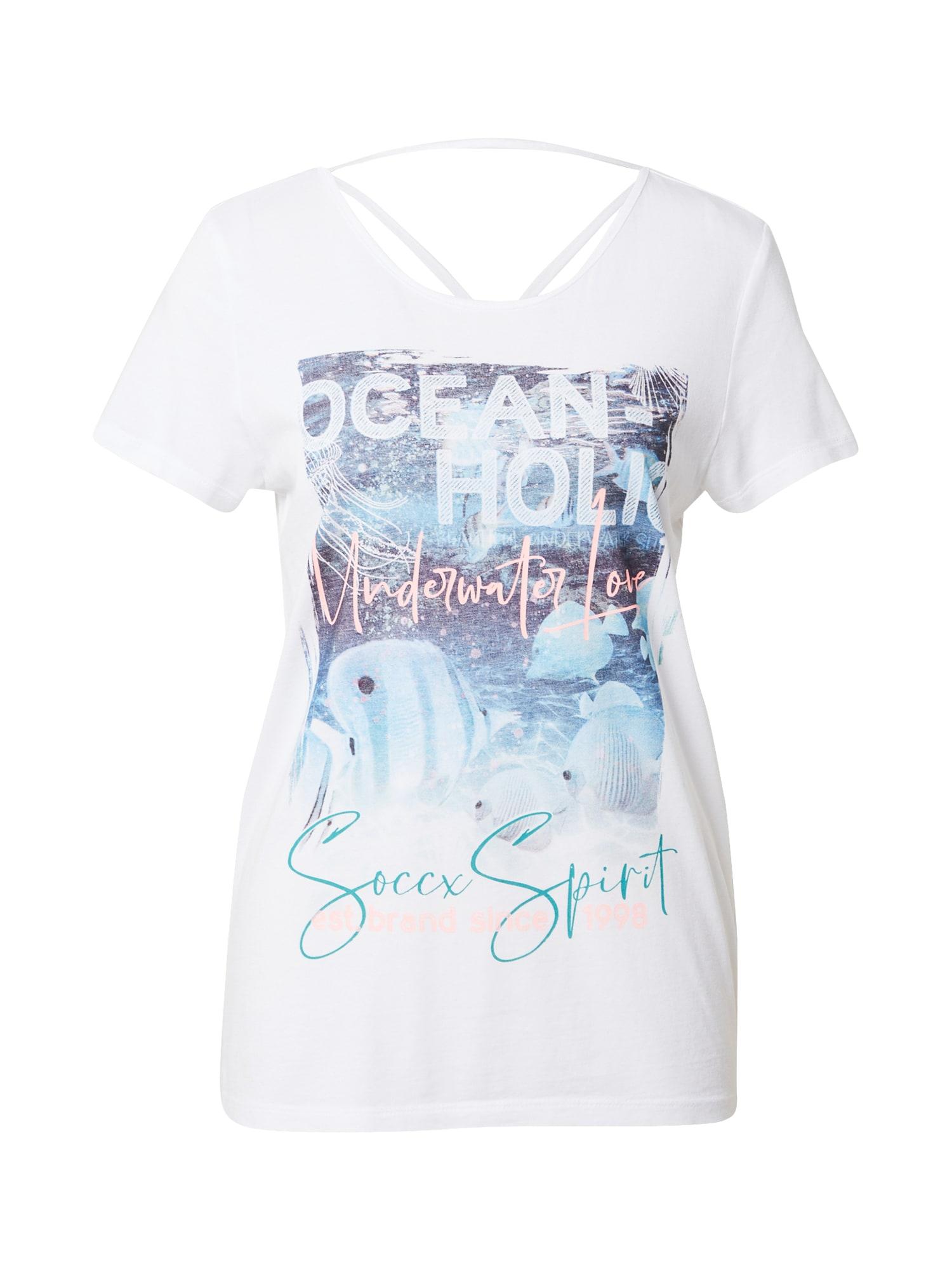 Soccx Marškinėliai balta / mišrios spalvos