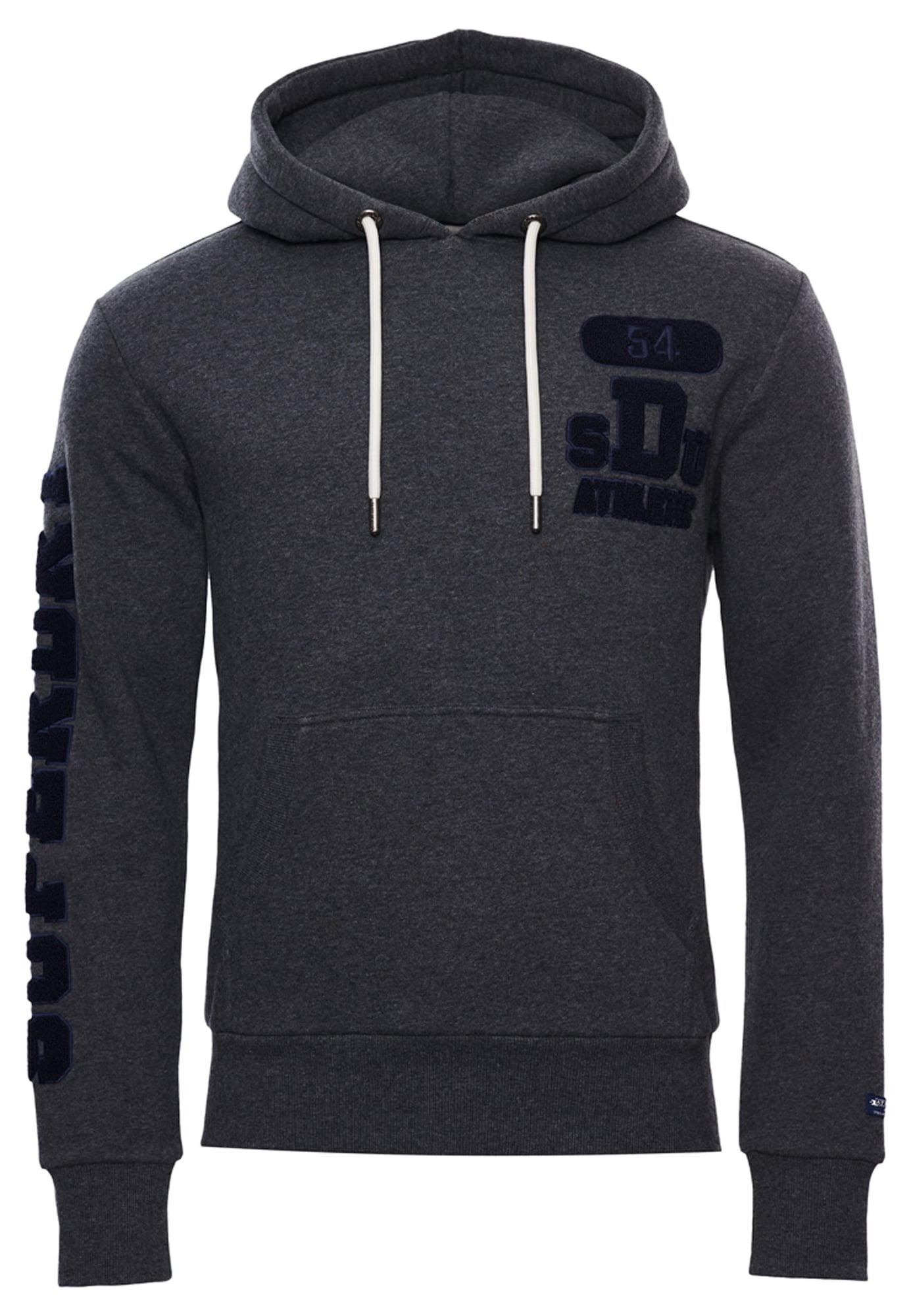 Superdry Sportinio tipo megztinis tamsiai pilka / juoda