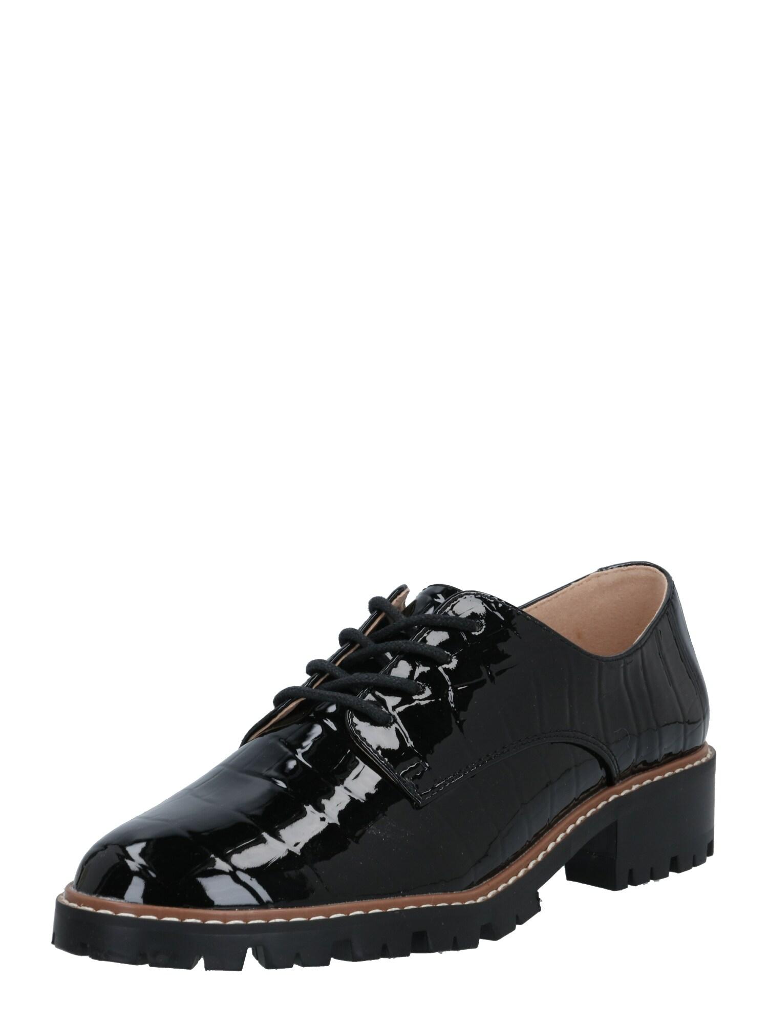 Dorothy Perkins Šněrovací boty 'LIZZO'  černá