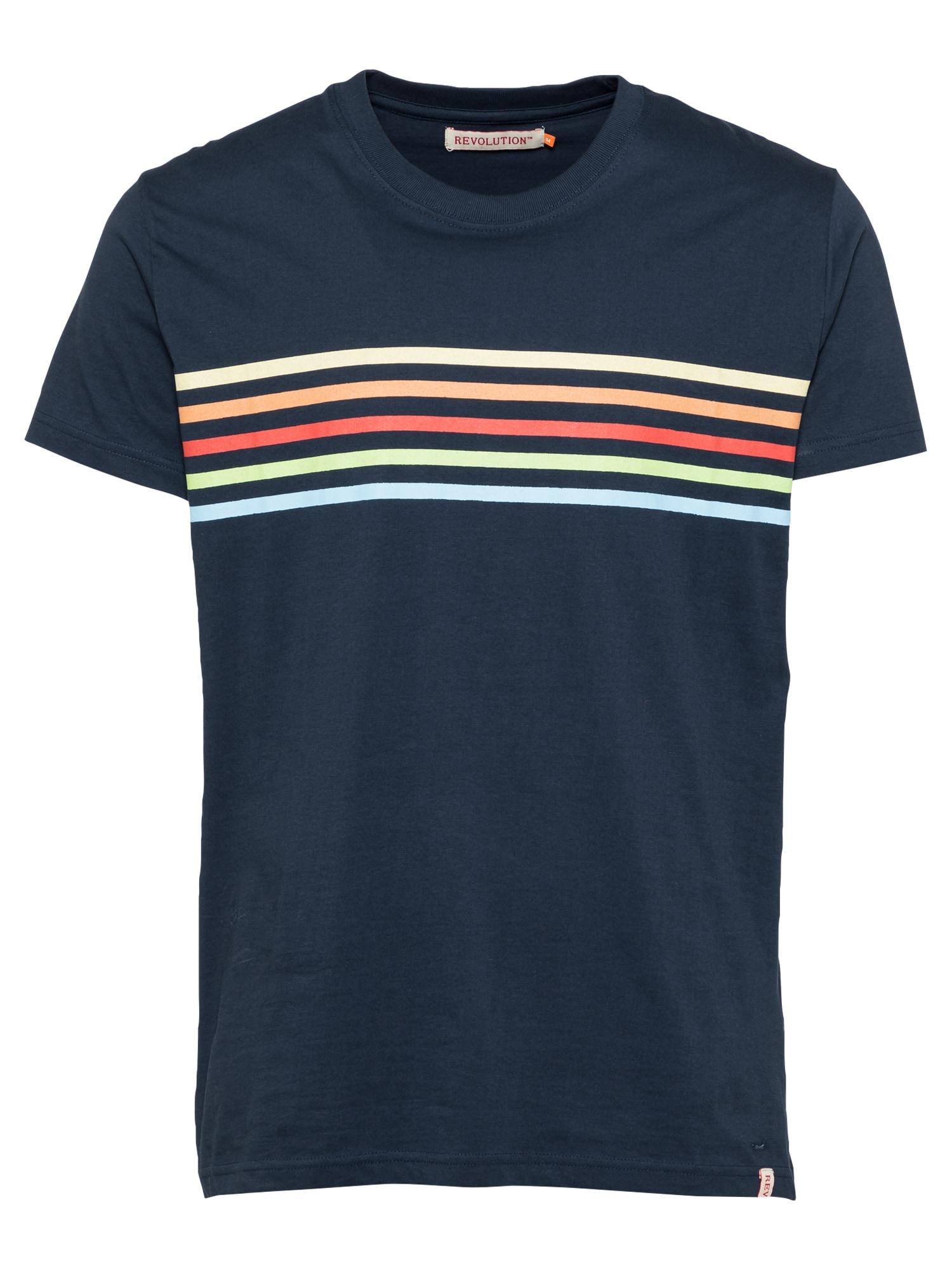 Revolution Marškinėliai tamsiai mėlyna / mišrios spalvos