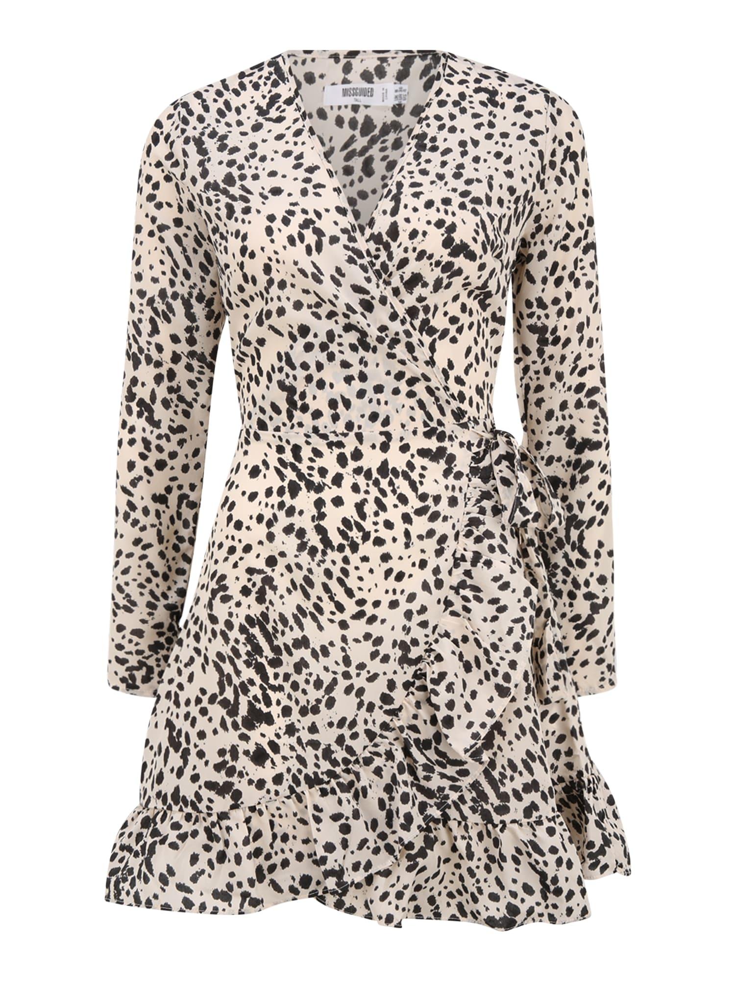 Missguided (Tall) Suknelė natūrali balta / juoda