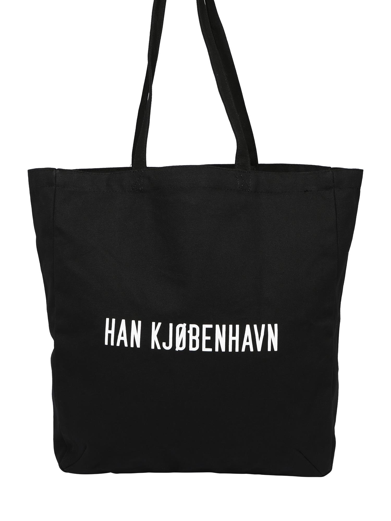 Han Kjøbenhavn Pirkinių krepšys juoda / balta