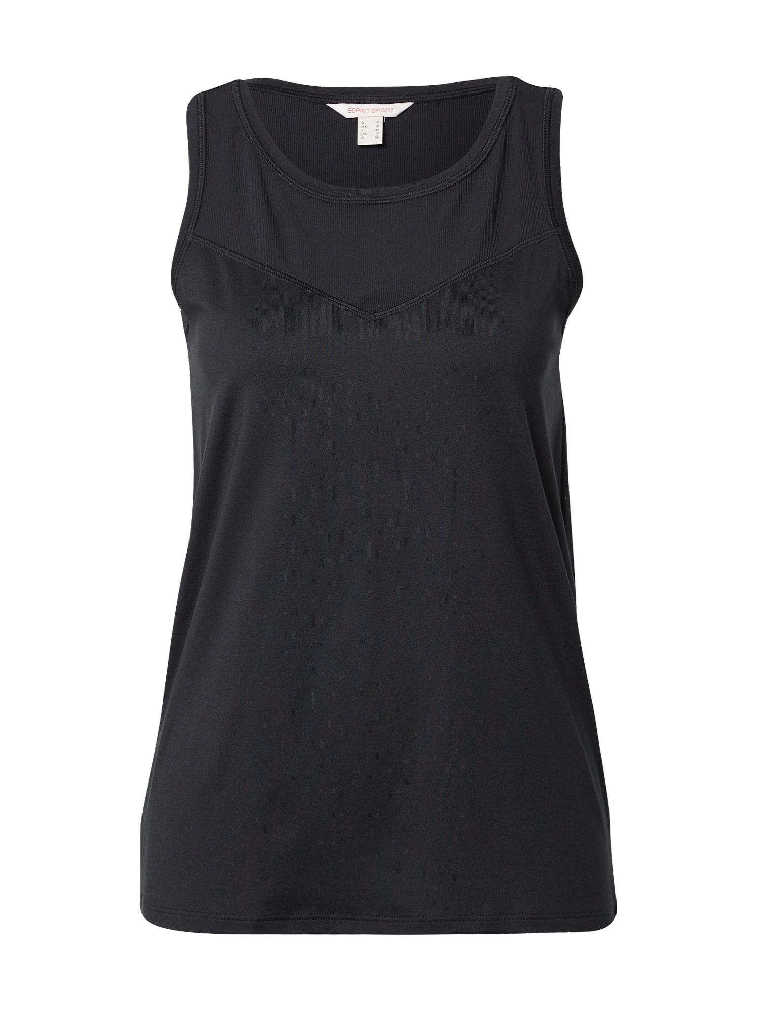 ESPRIT SPORT Sportiniai marškinėliai be rankovių juoda