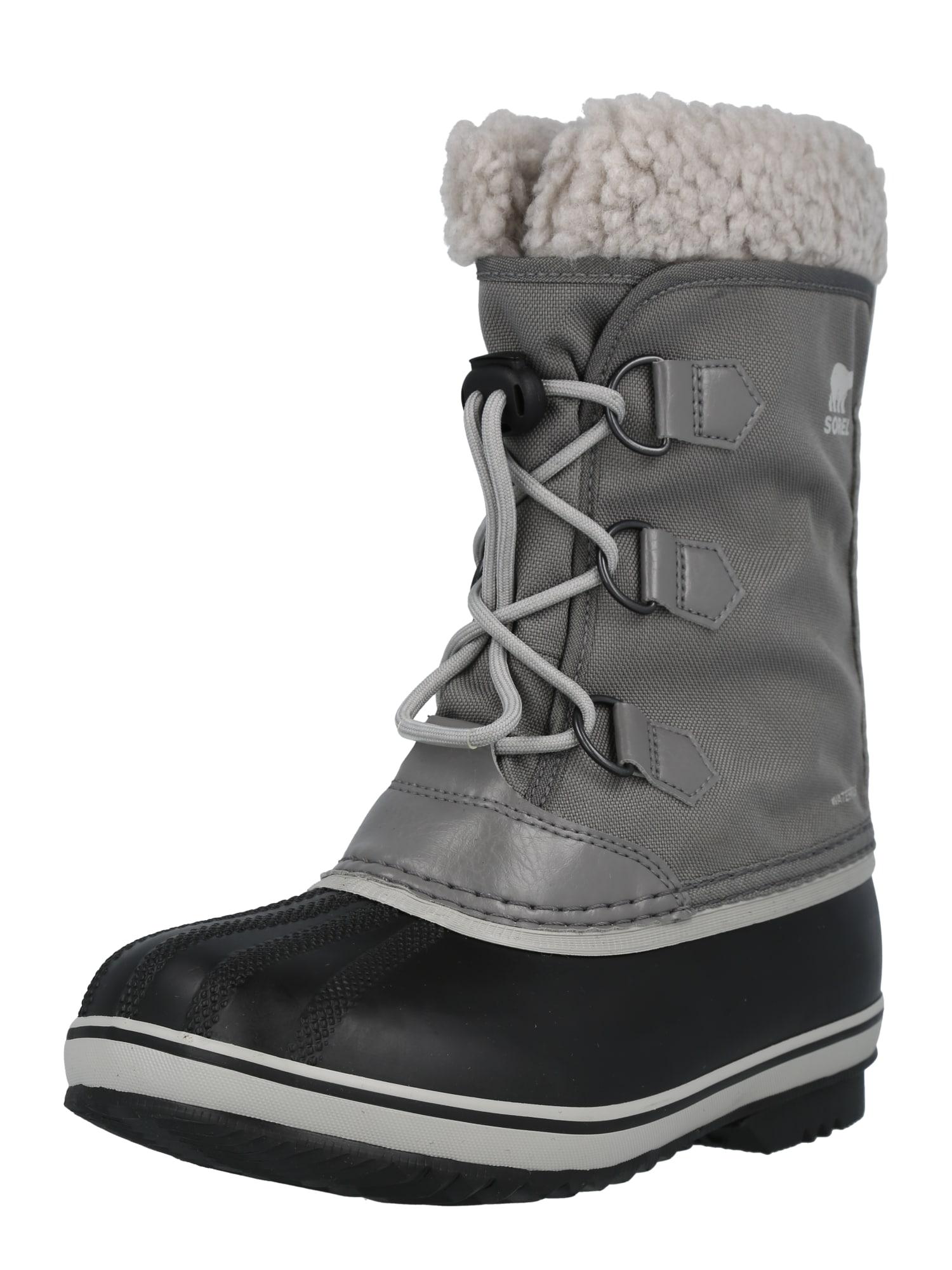 SOREL Sněhule  šedá / černá