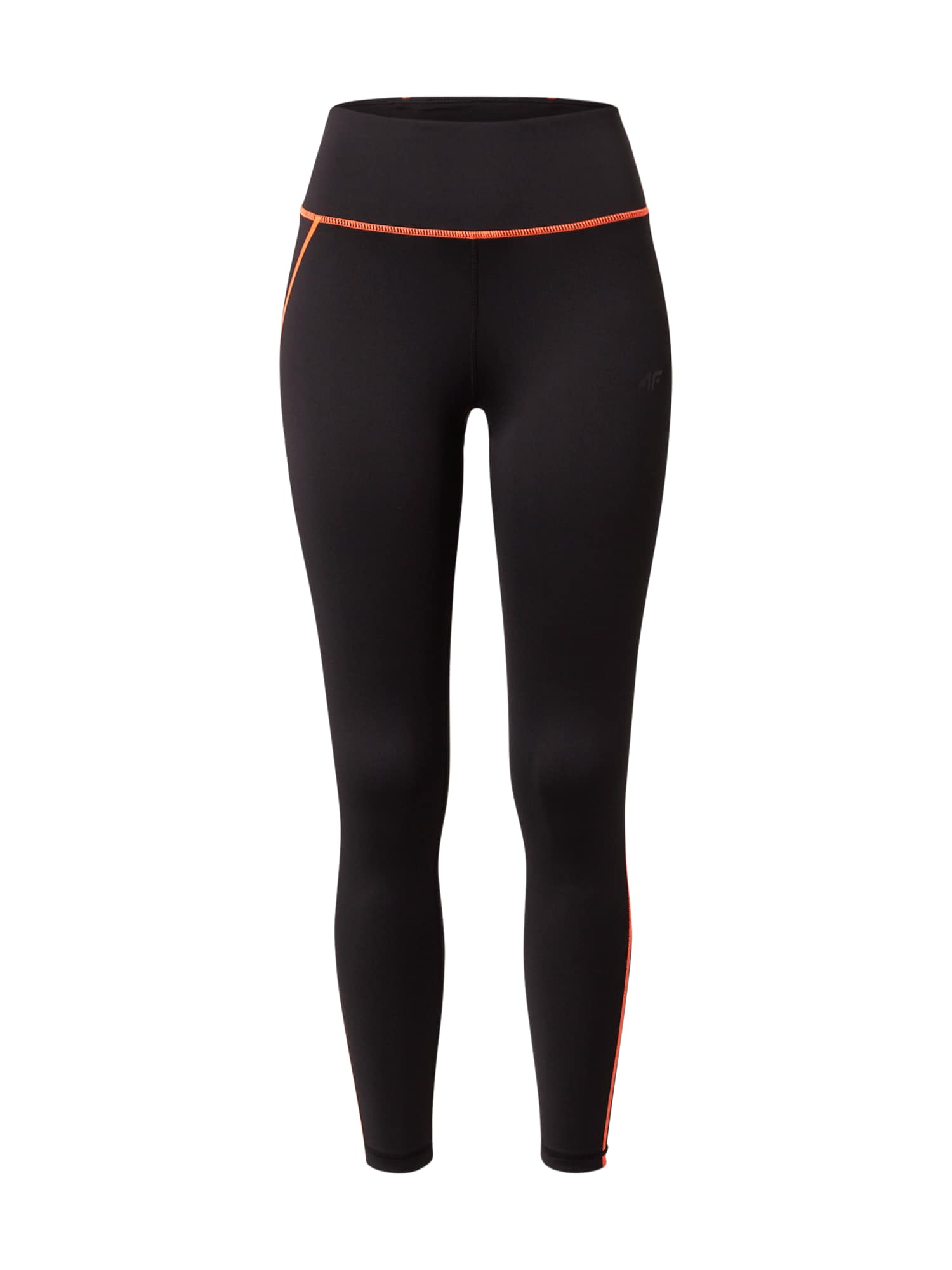 4F Sportinės kelnės juoda / oranžinė