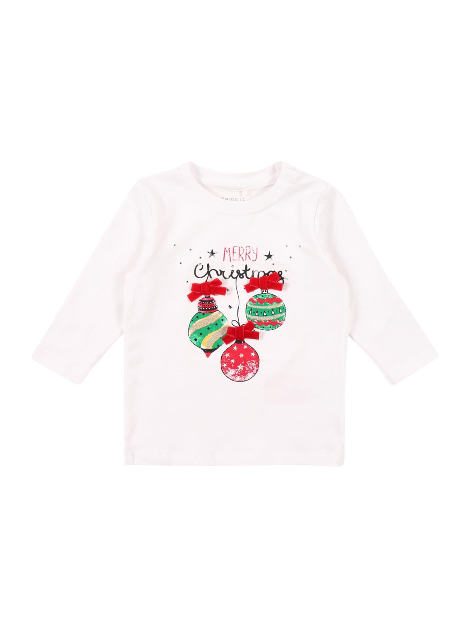NAME IT Marškinėliai 'RERINE' raudona / juoda / žalia / mišrios spalvos / balkšva