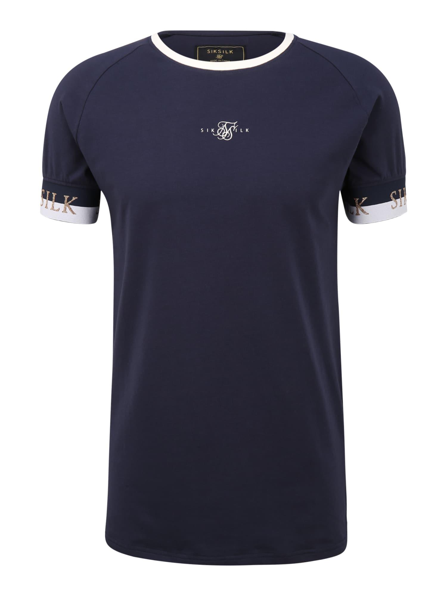 SikSilk Tričko  námořnická modř