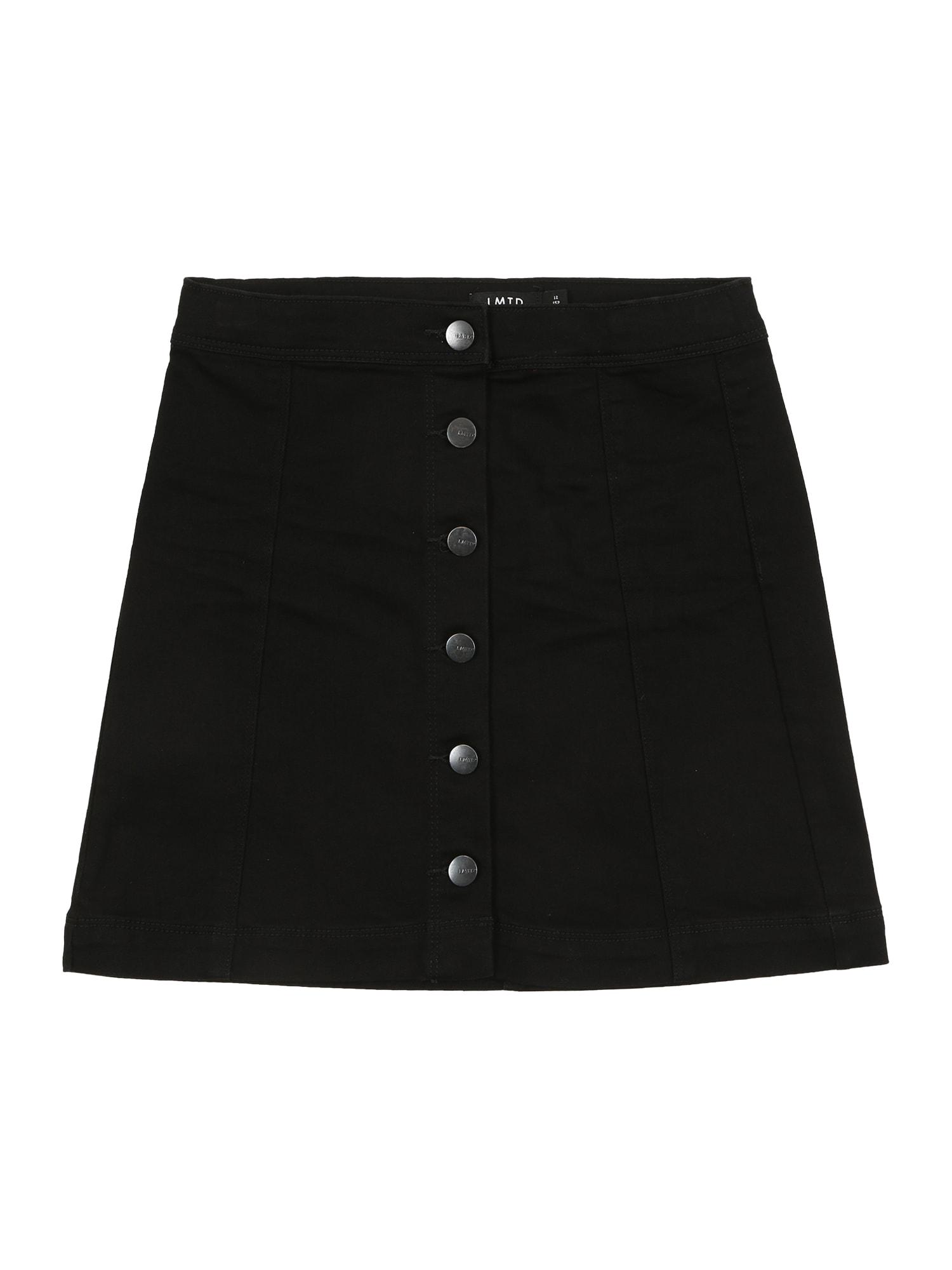 NAME IT Sijonas juodo džinso spalva