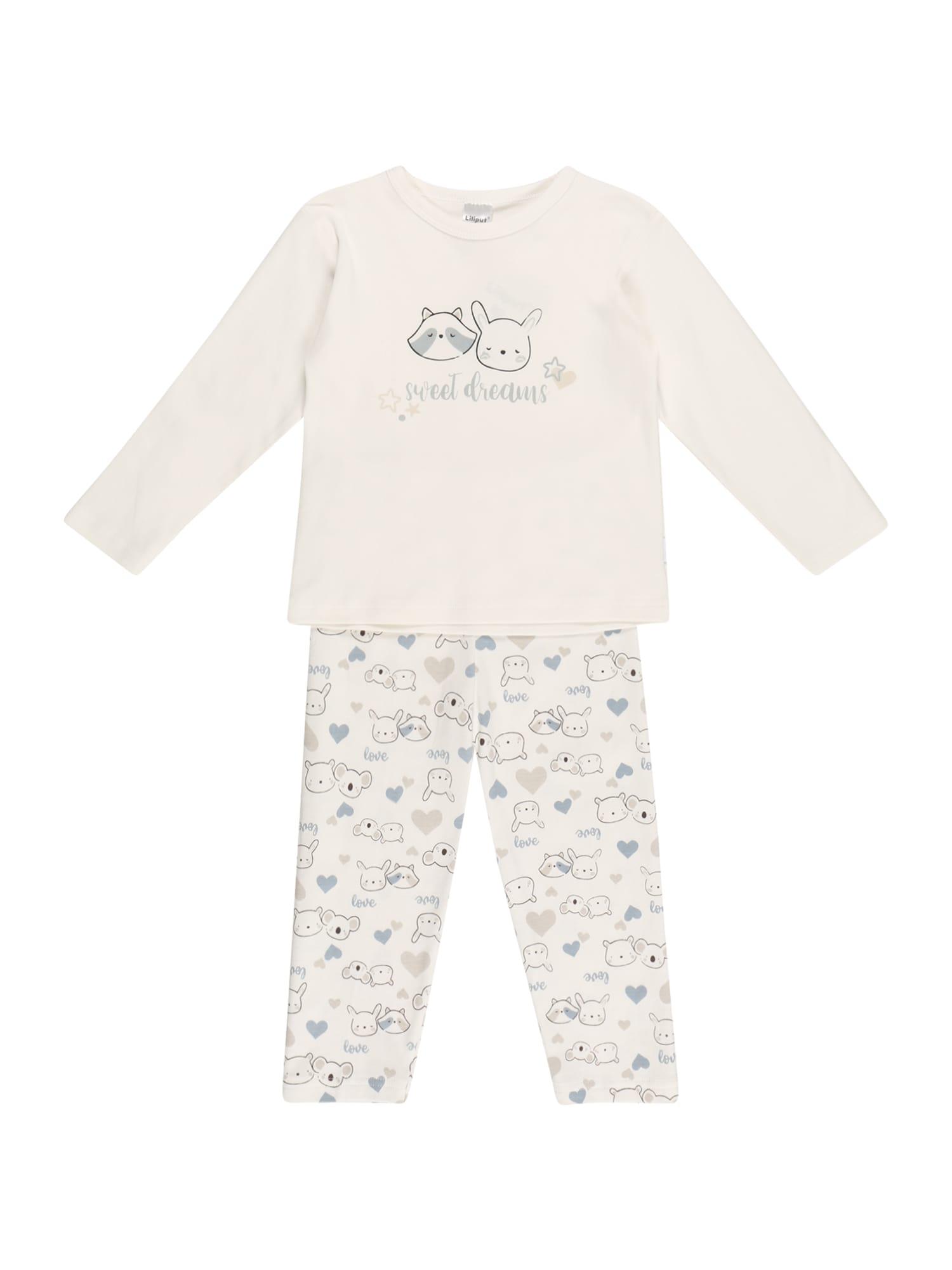 LILIPUT Miego kostiumas balta / melsvai pilka / pilka / juoda