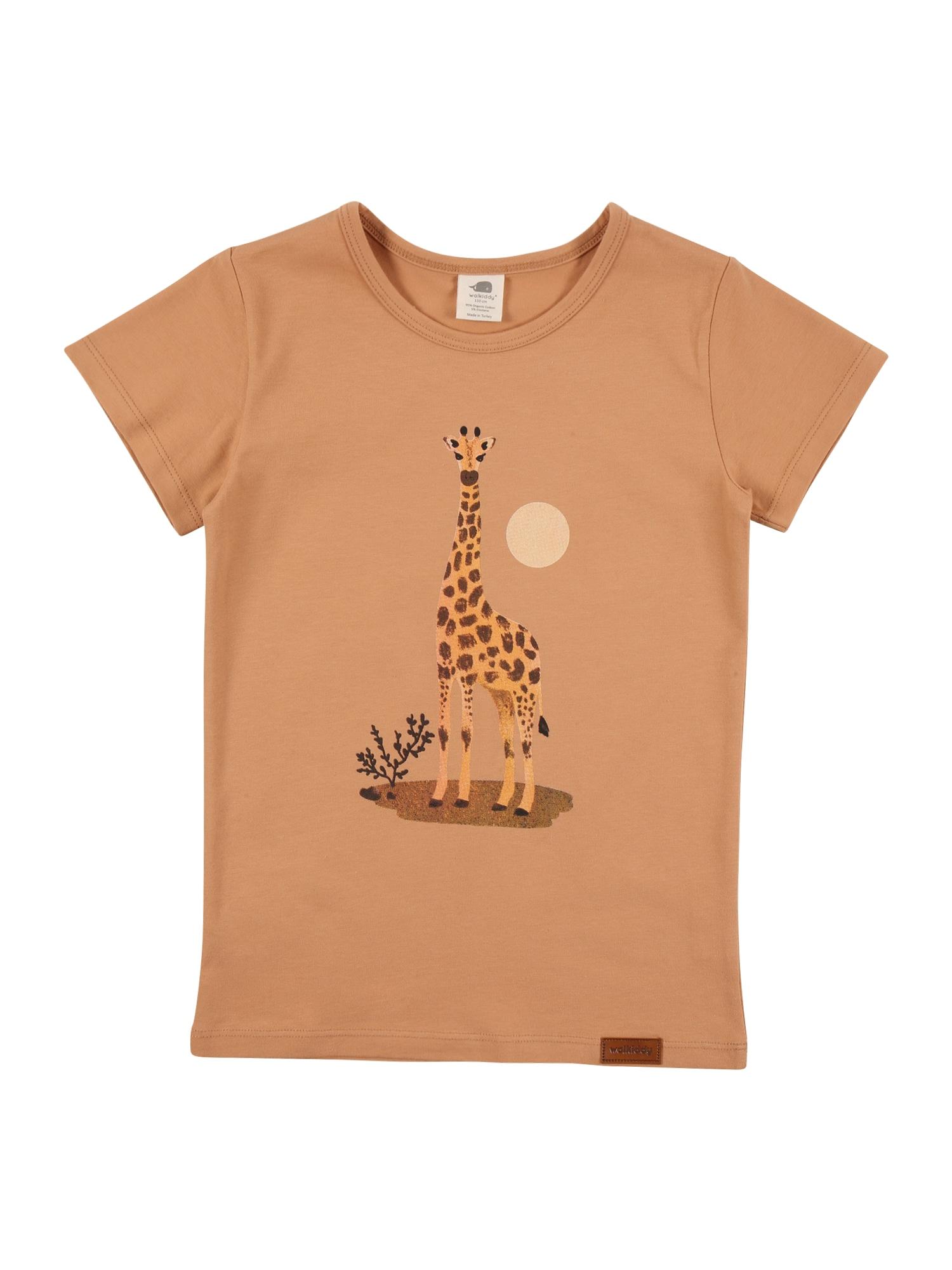Walkiddy Marškinėliai šviesiai ruda / mišrios spalvos