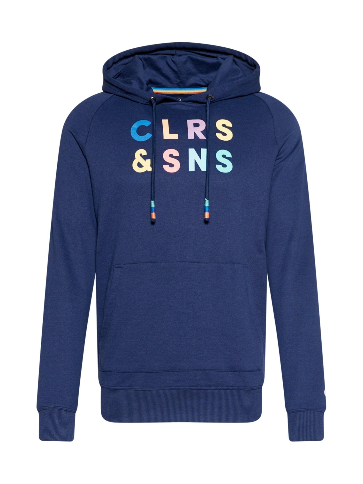 COLOURS & SONS Megztinis be užsegimo tamsiai mėlyna / šviesiai violetinė / šviesiai mėlyna / šviesiai geltona / šviesiai žalia
