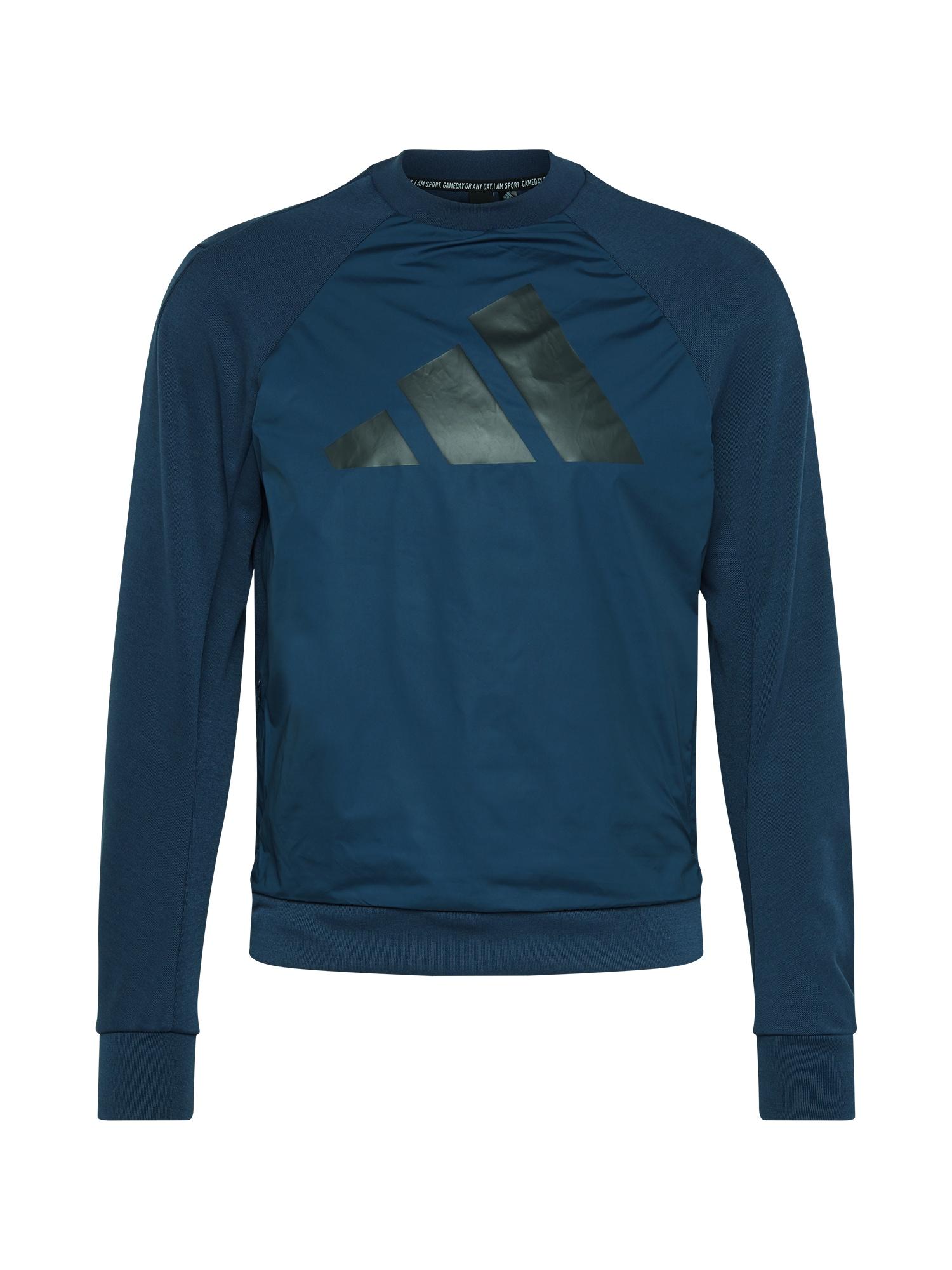 ADIDAS PERFORMANCE Sportinio tipo megztinis tamsiai mėlyna / juoda