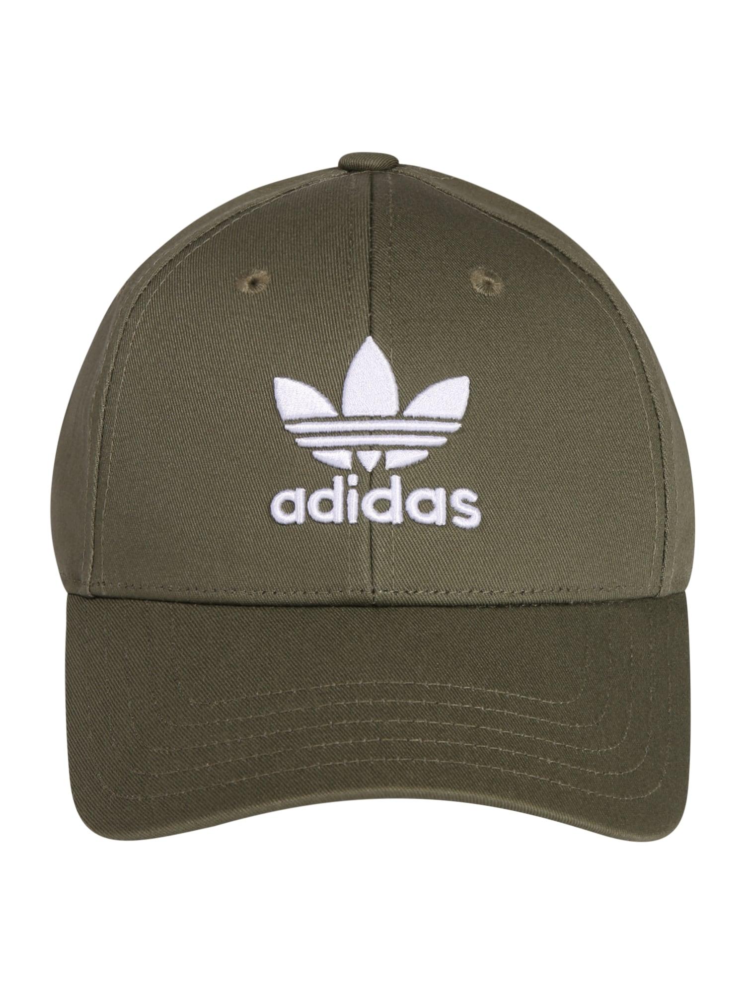 ADIDAS ORIGINALS Kepurė rusvai žalia / balta