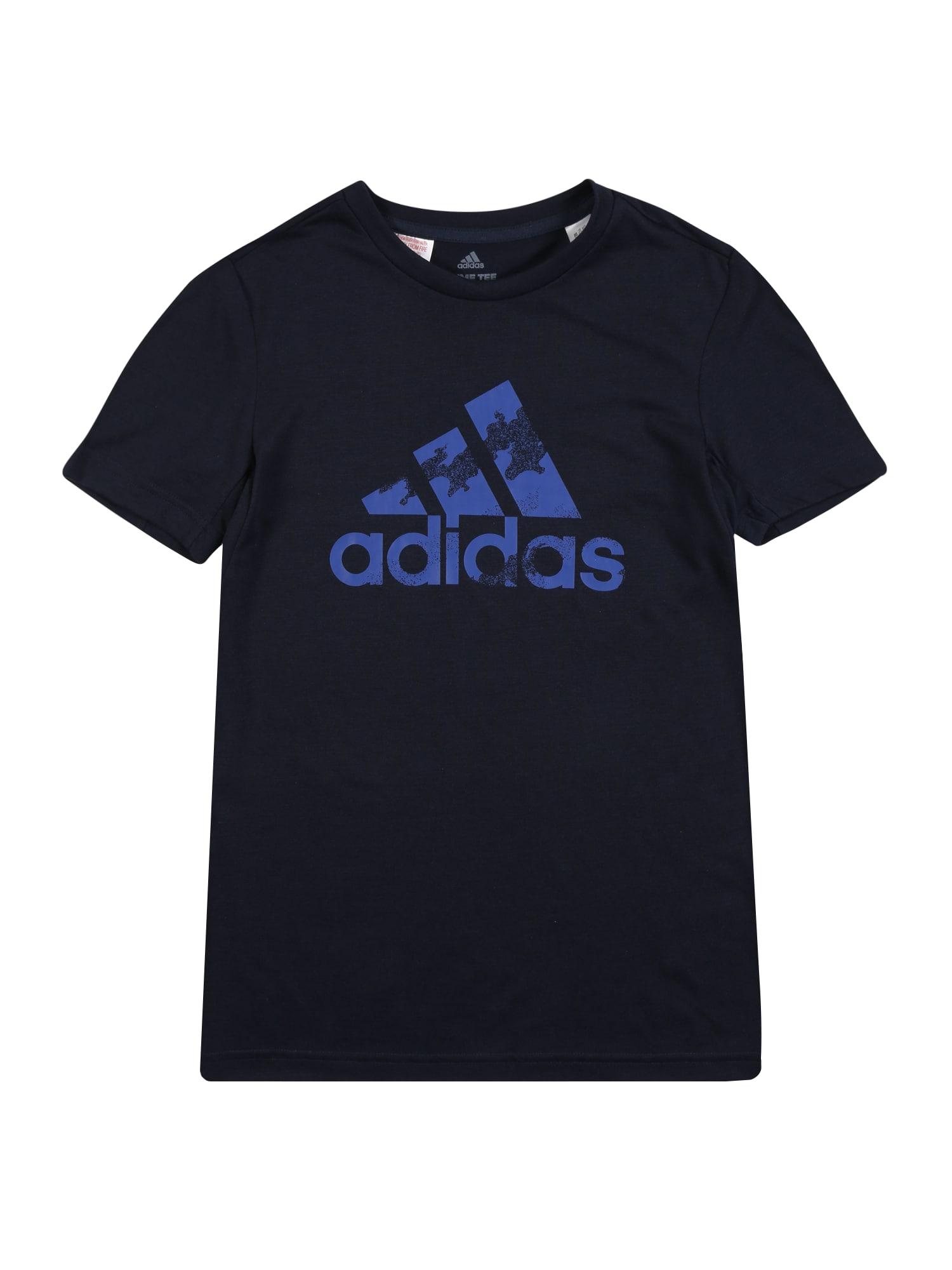 ADIDAS PERFORMANCE Funkční tričko  noční modrá / královská modrá
