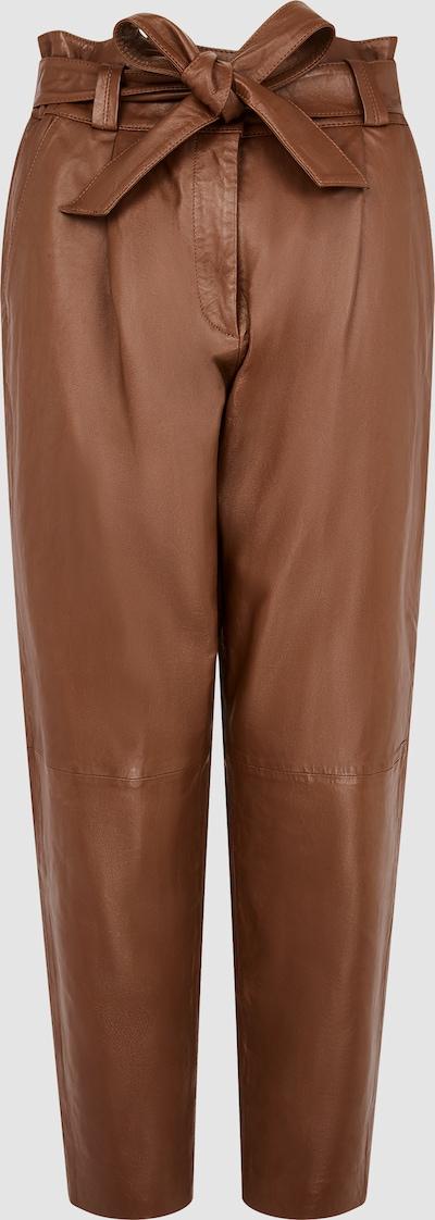 BELINDA LEDERHOSE MIT GÜRTEL UND TAPERED LEGS