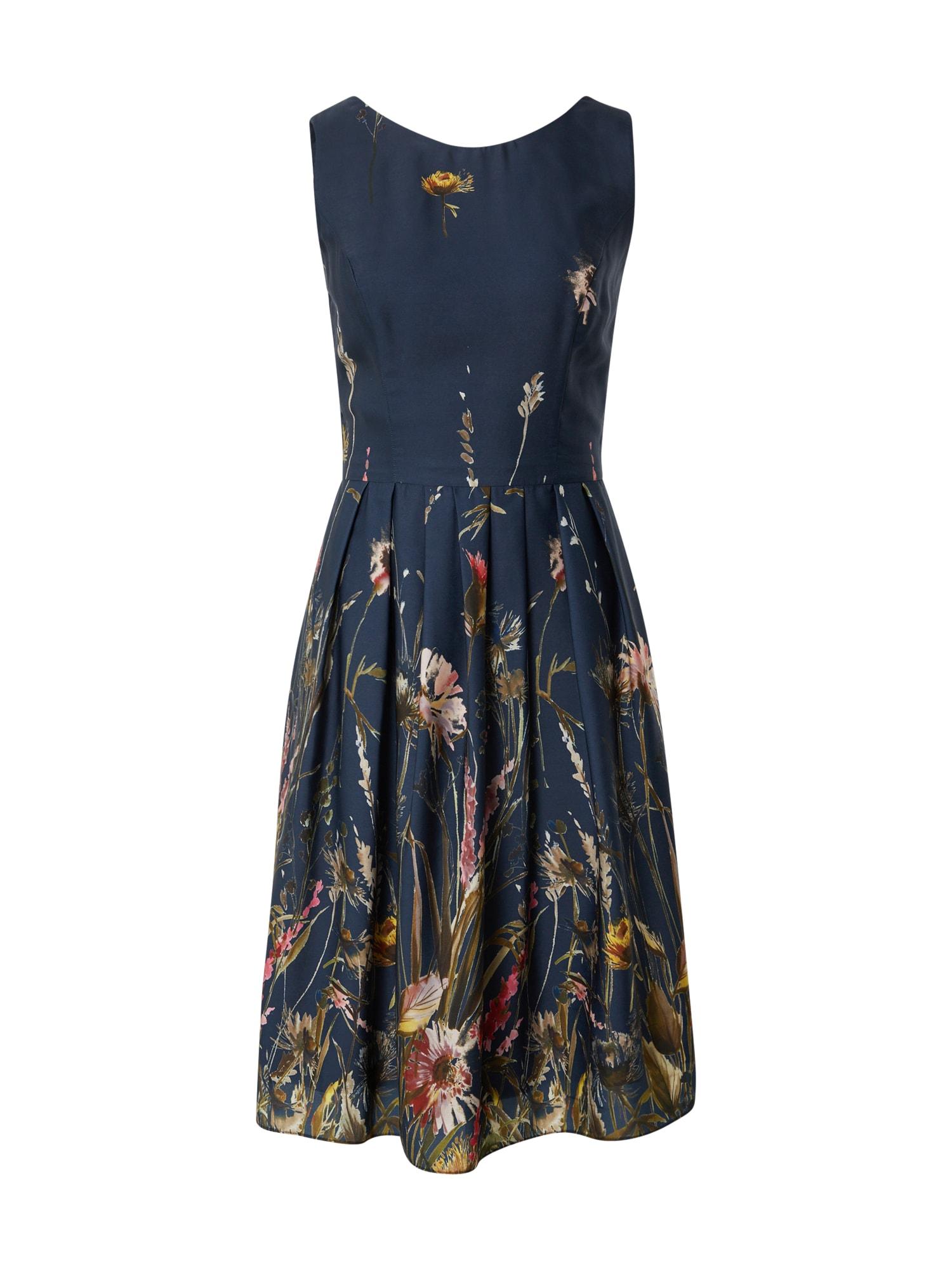 SWING Kokteilinė suknelė tamsiai mėlyna / mišrios spalvos