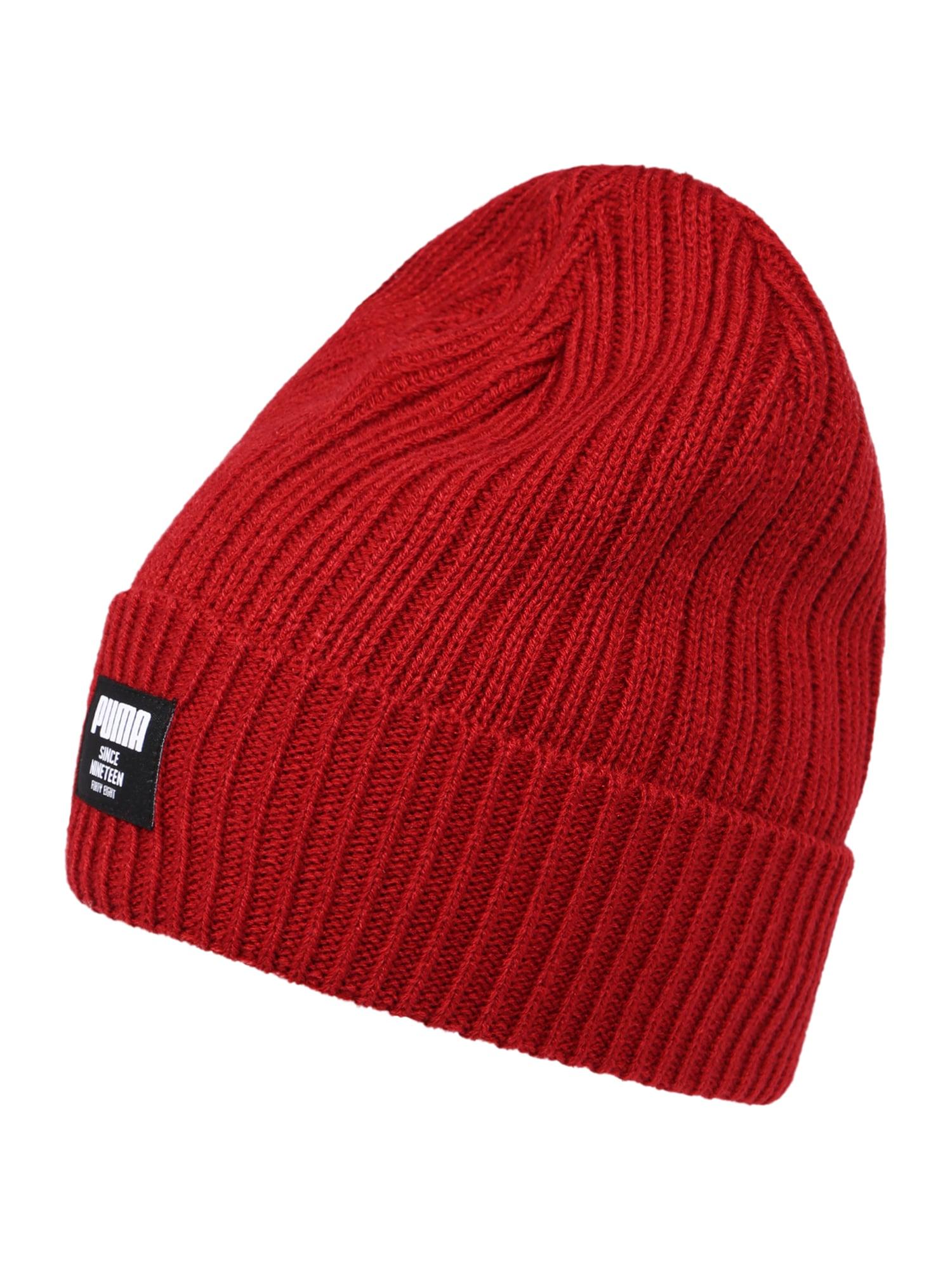 PUMA Sportovní čepice  červený melír / černá / bílá