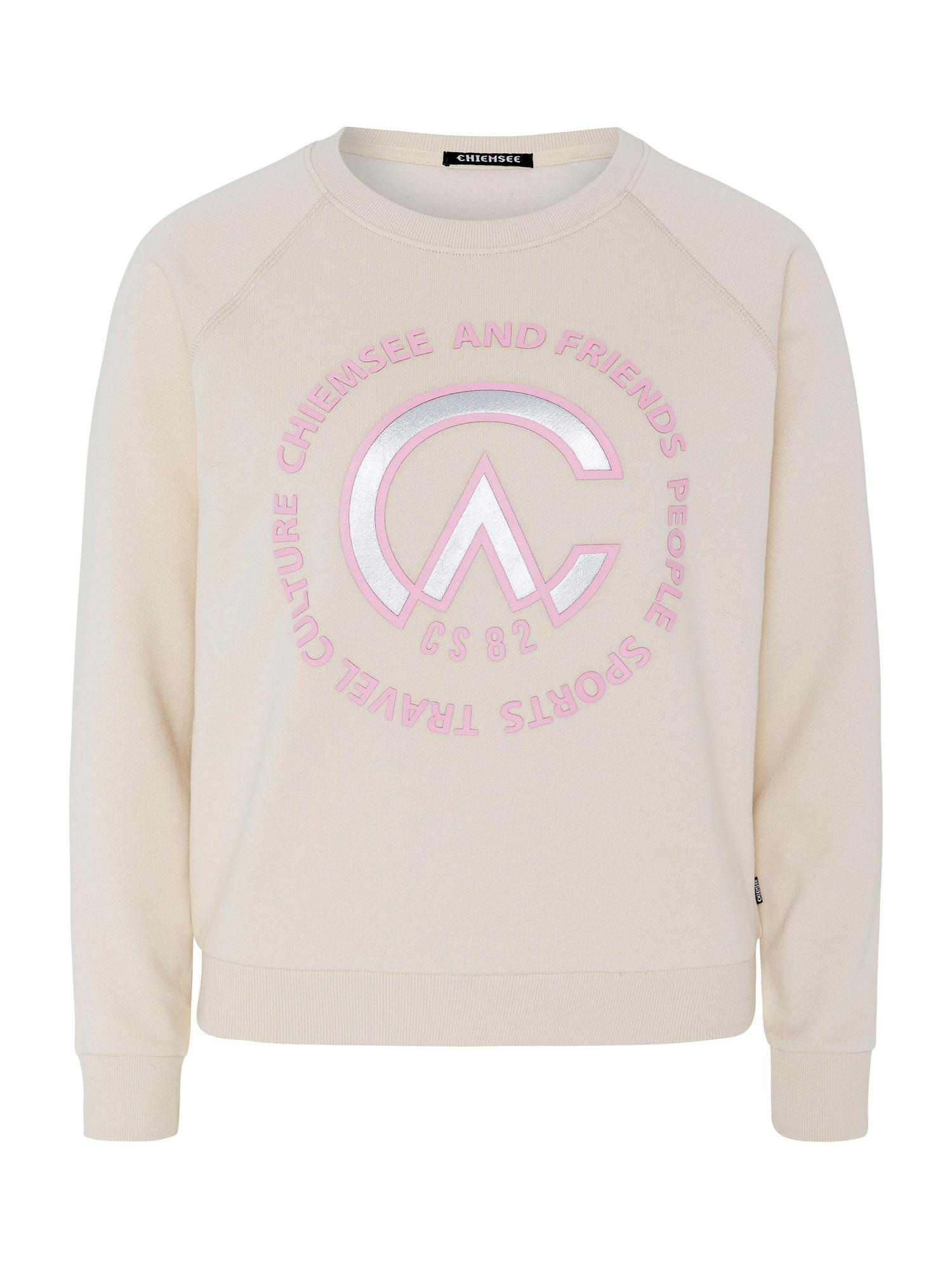 CHIEMSEE Sportovní mikina 'Yutmara'  růžová / perlově bílá