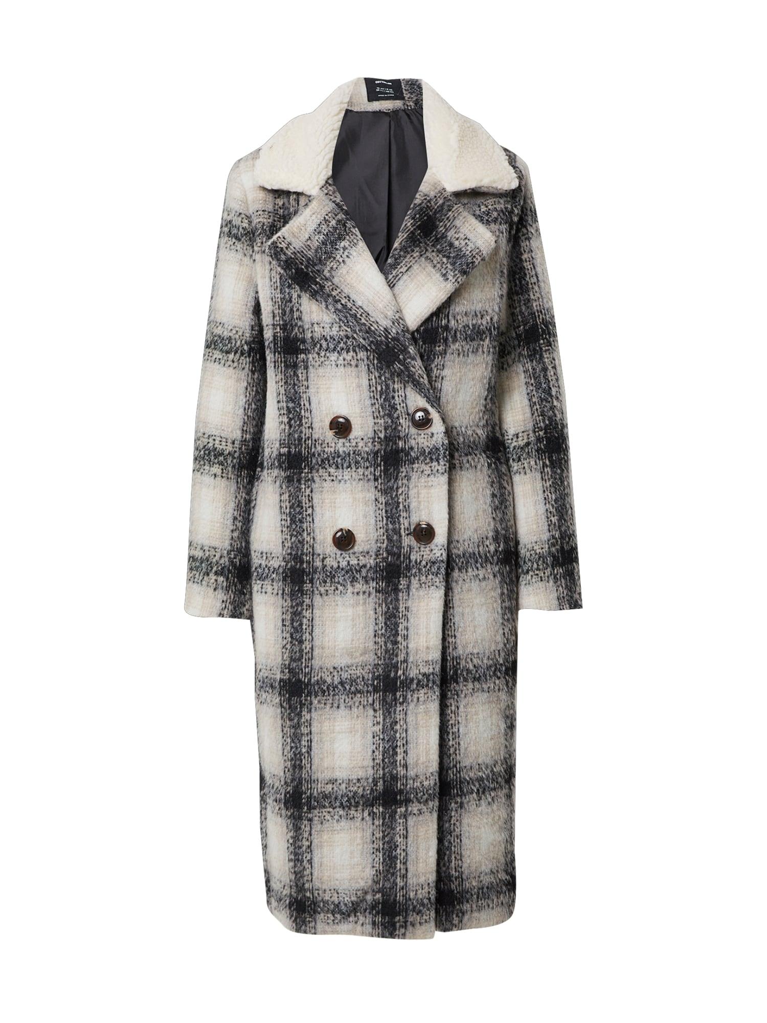 Cotton On Demisezoninis paltas margai pilka / pilka / juoda / smėlio / balta