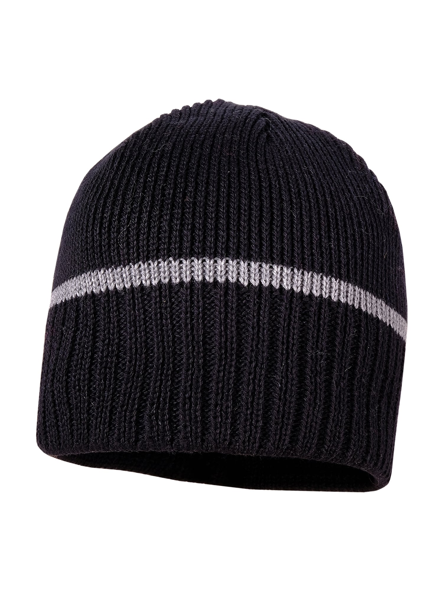 MAXIMO Megzta kepurė juoda / pilka