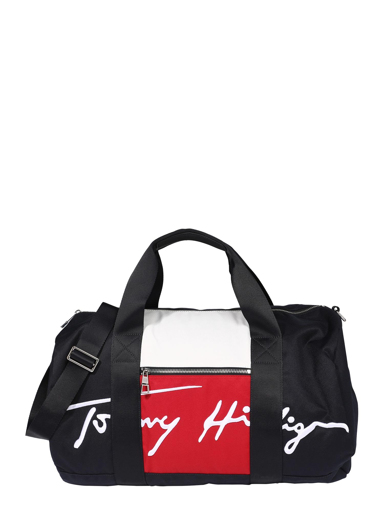 TOMMY HILFIGER Kelioninis krepšys tamsiai mėlyna / balta / raudona