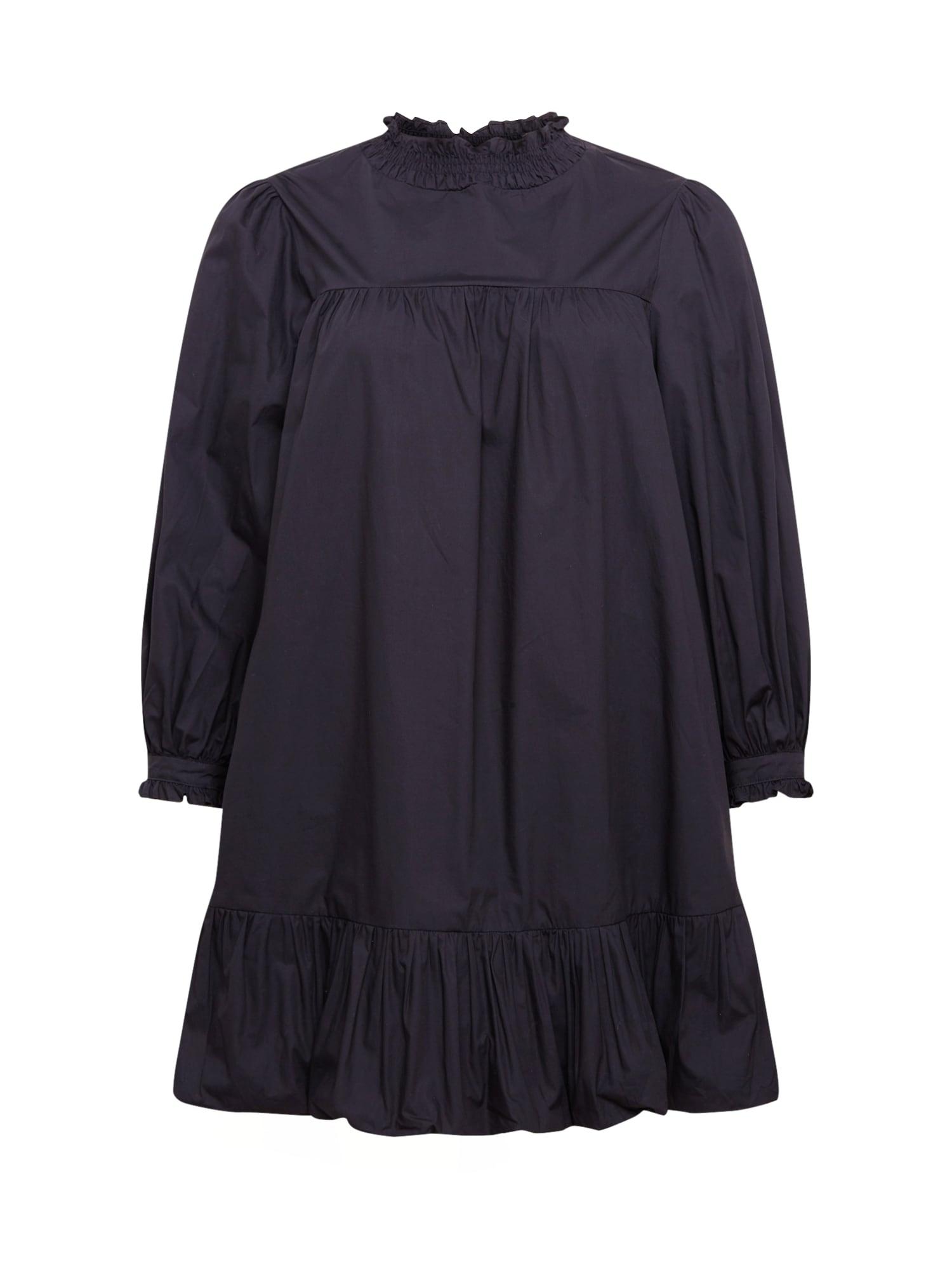 GLAMOROUS CURVE Suknelė juoda