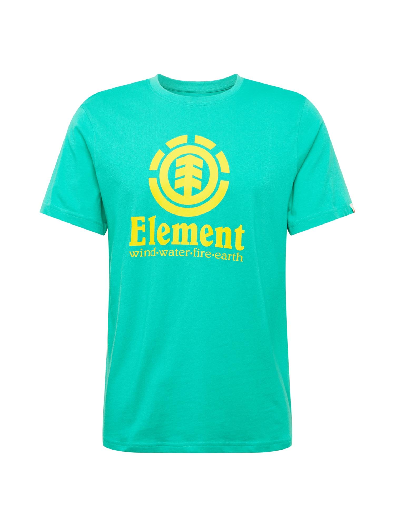 ELEMENT Sportiniai marškinėliai nefrito spalva / geltona