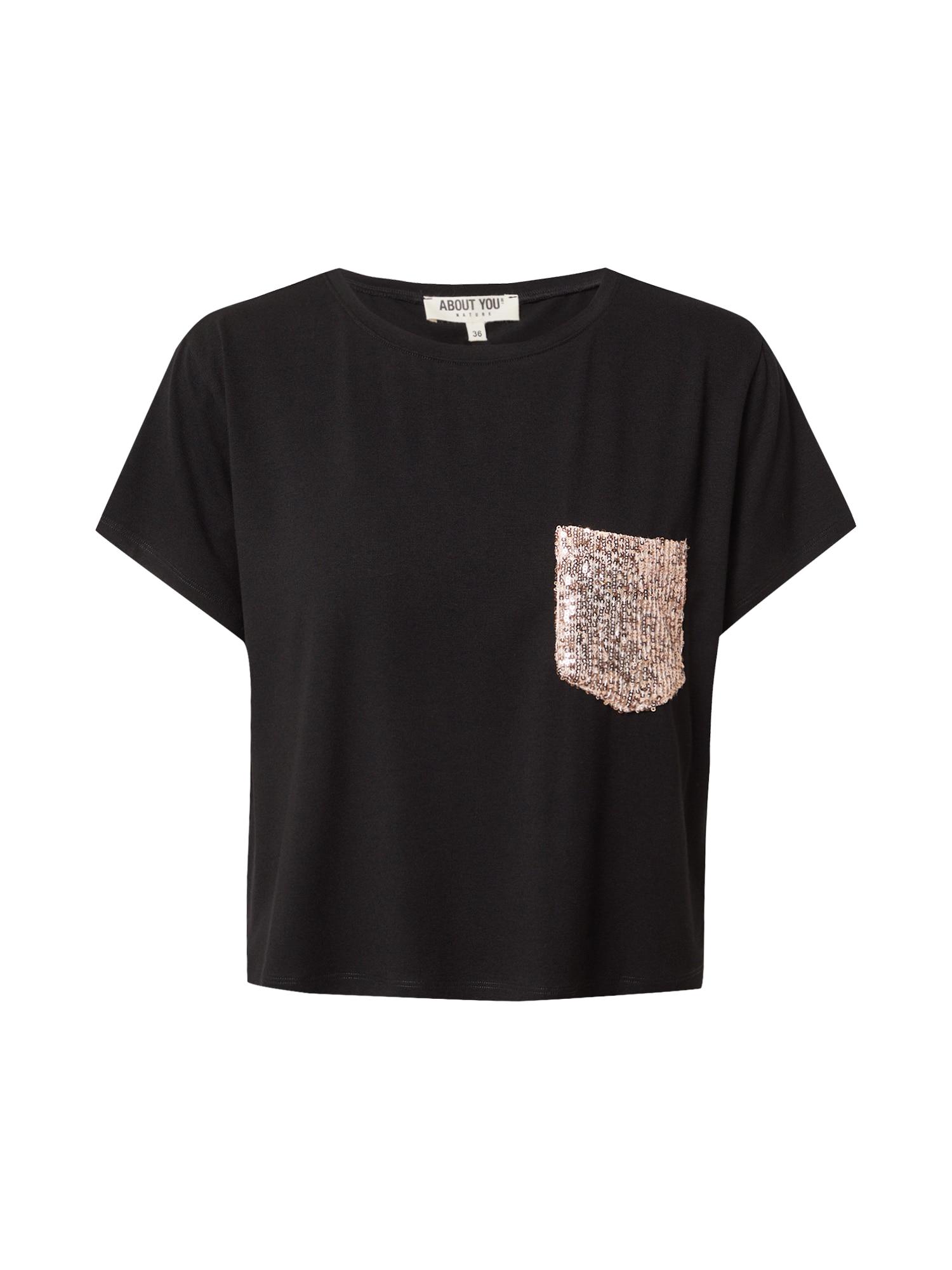 ABOUT YOU Marškinėliai 'Ines' juoda