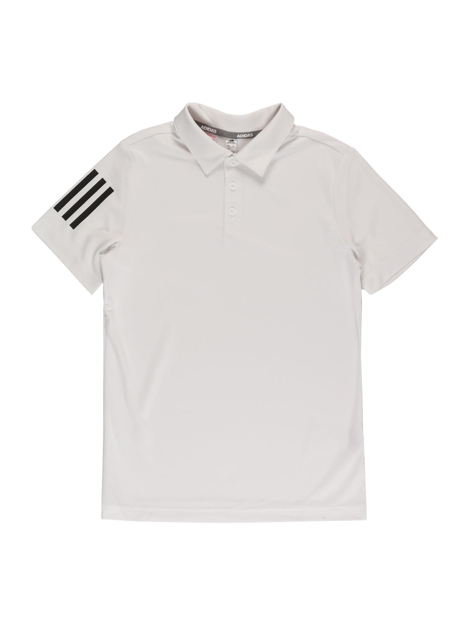 adidas Golf Sportiniai marškinėliai balta / juoda