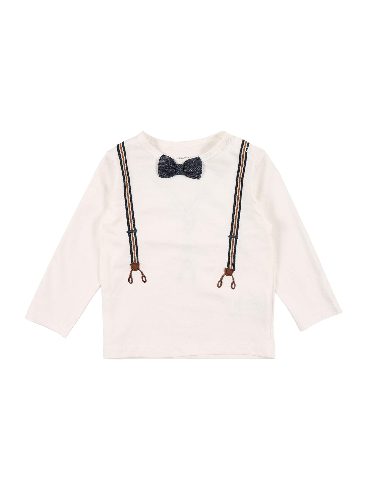 STACCATO Marškinėliai balkšva / tamsiai mėlyna / ruda