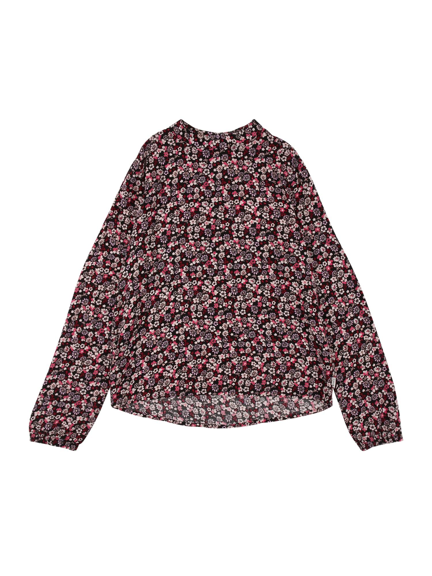 GARCIA Marškinėliai juoda / rožių spalva / purpurinė / rožinė