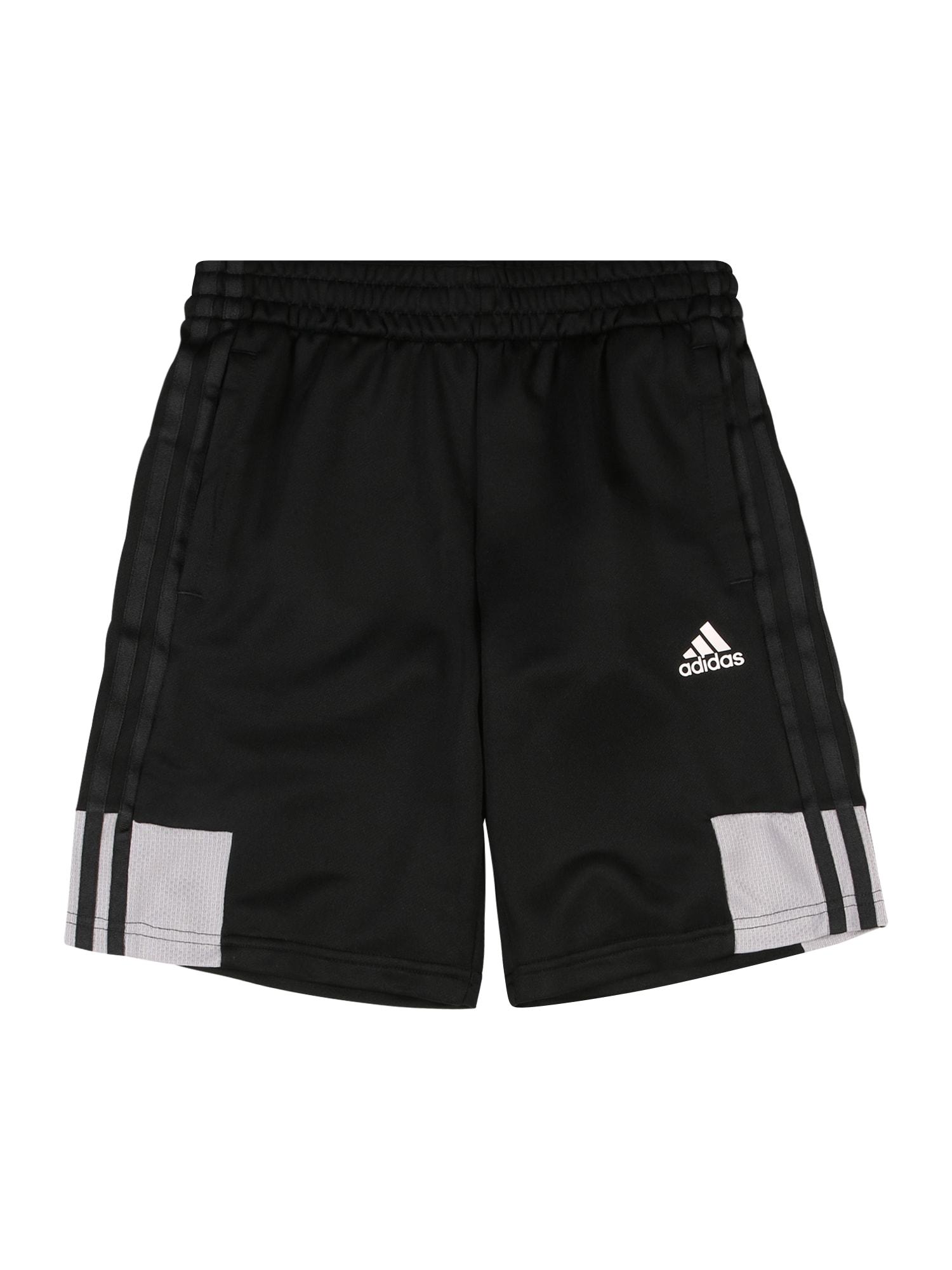 ADIDAS PERFORMANCE Sportinės kelnės 'B A.R.' balta / juoda / šviesiai pilka