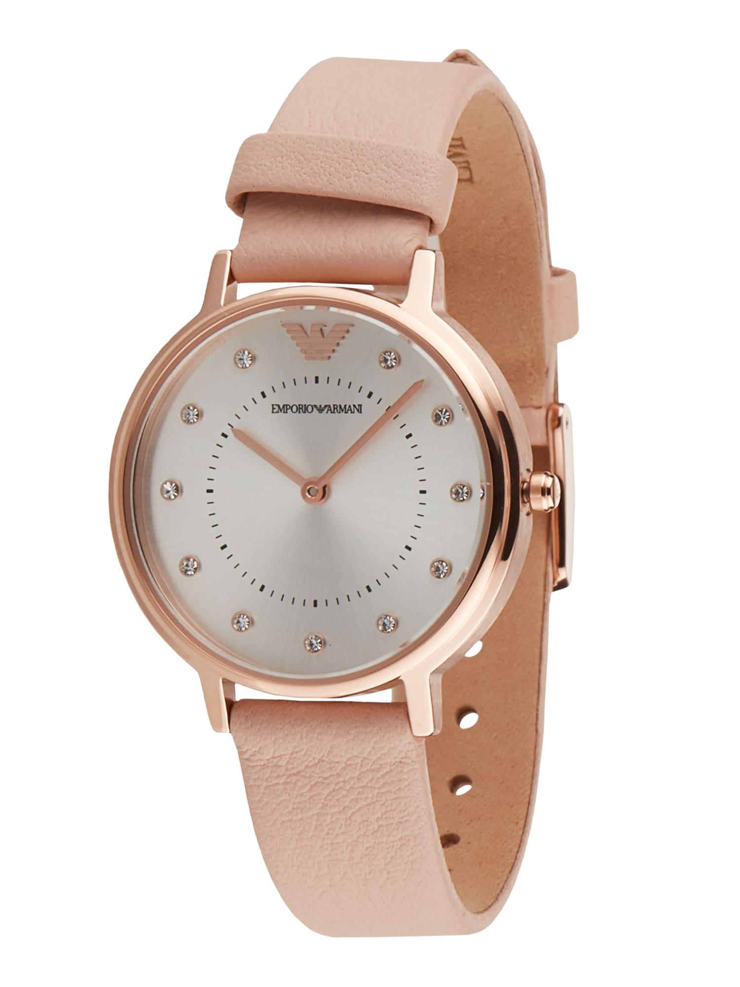 Emporio Armani Analoginis (įprasto dizaino) laikrodis pudros spalva / rožinio aukso spalva / balta