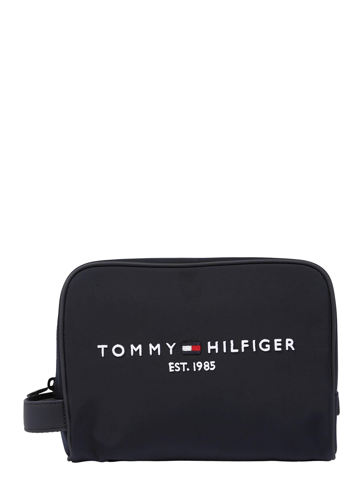TOMMY HILFIGER Tualeto reikmenų / kosmetikos krepšys tamsiai mėlyna / balta / raudona